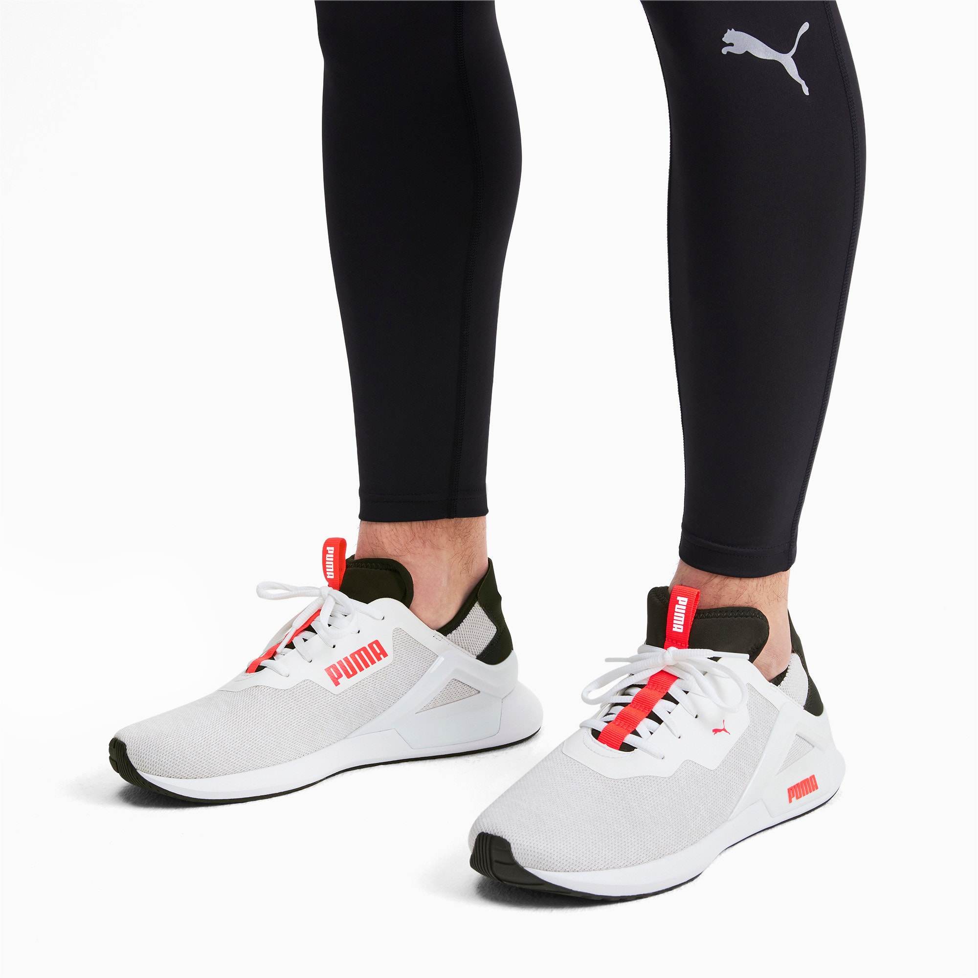 Thumbnail 2 of Rogue X Knit Herren Sneaker, White-Black-Nrgy Red, medium