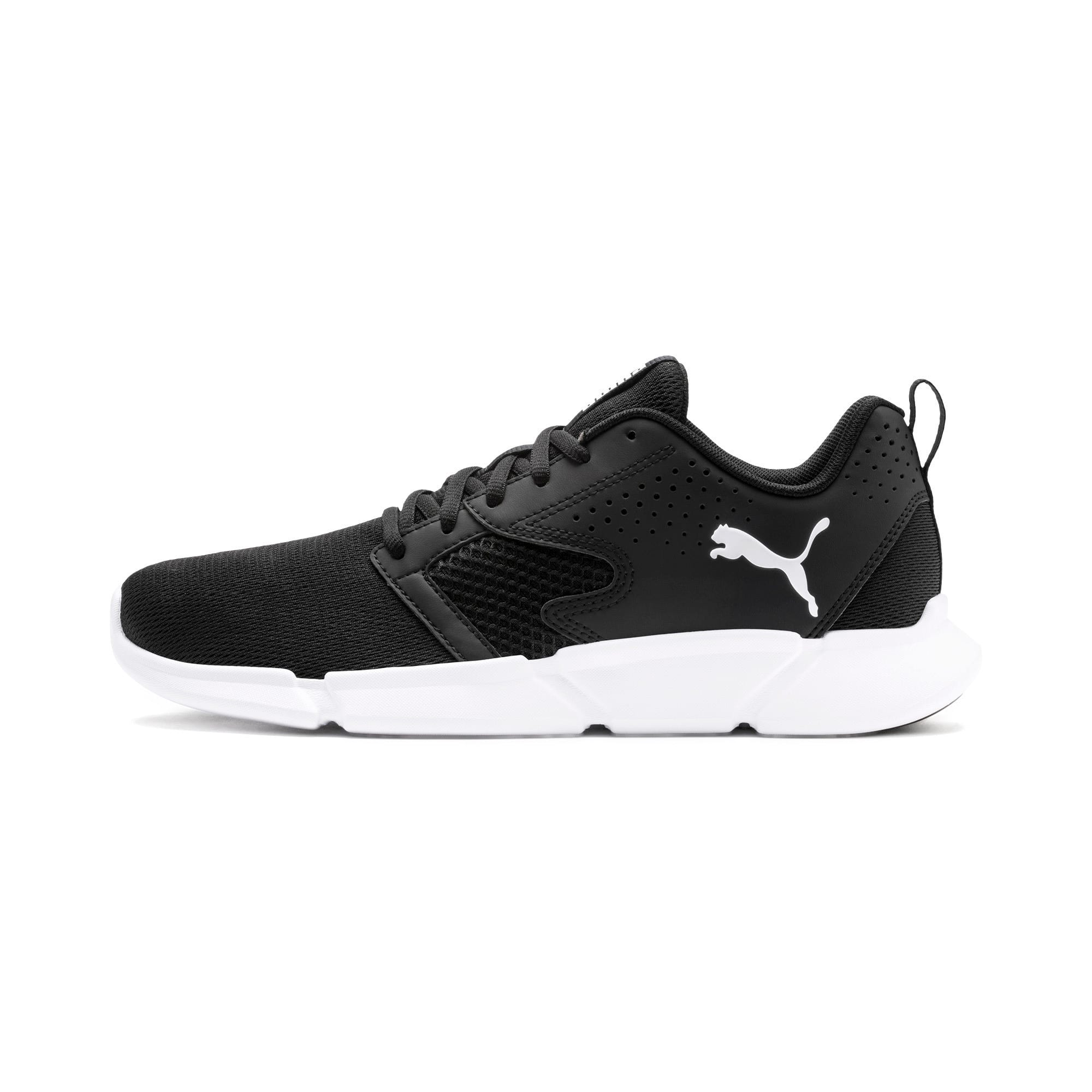 Thumbnail 1 of INTERFLEX Modern Running Shoes, Puma Black-Puma White, medium-IND