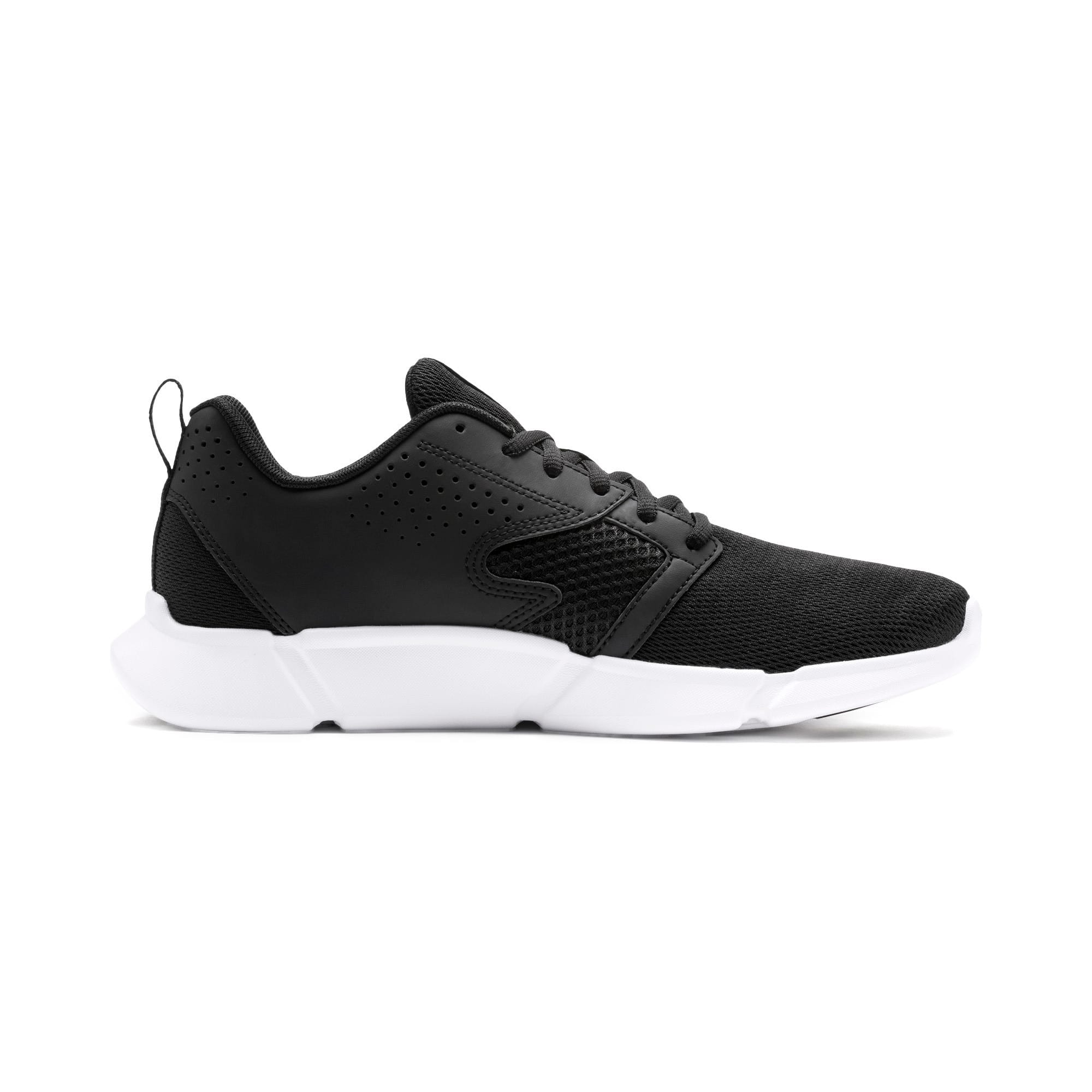Thumbnail 7 of INTERFLEX Modern Running Shoes, Puma Black-Puma White, medium-IND
