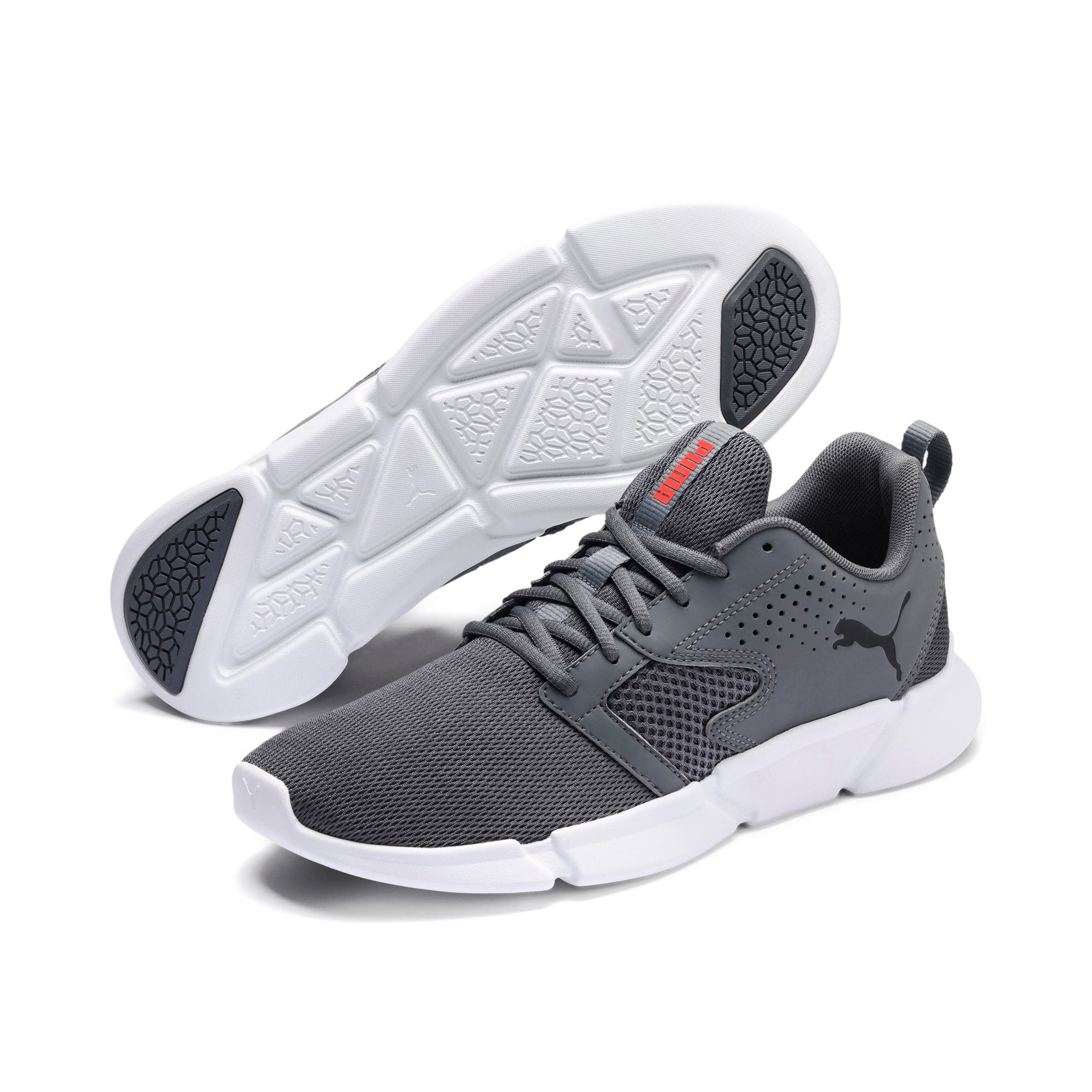 Thumbnail 2 of INTERFLEX Modern Sneakers, CASTLEROCK-Black-Nrgy Red, medium