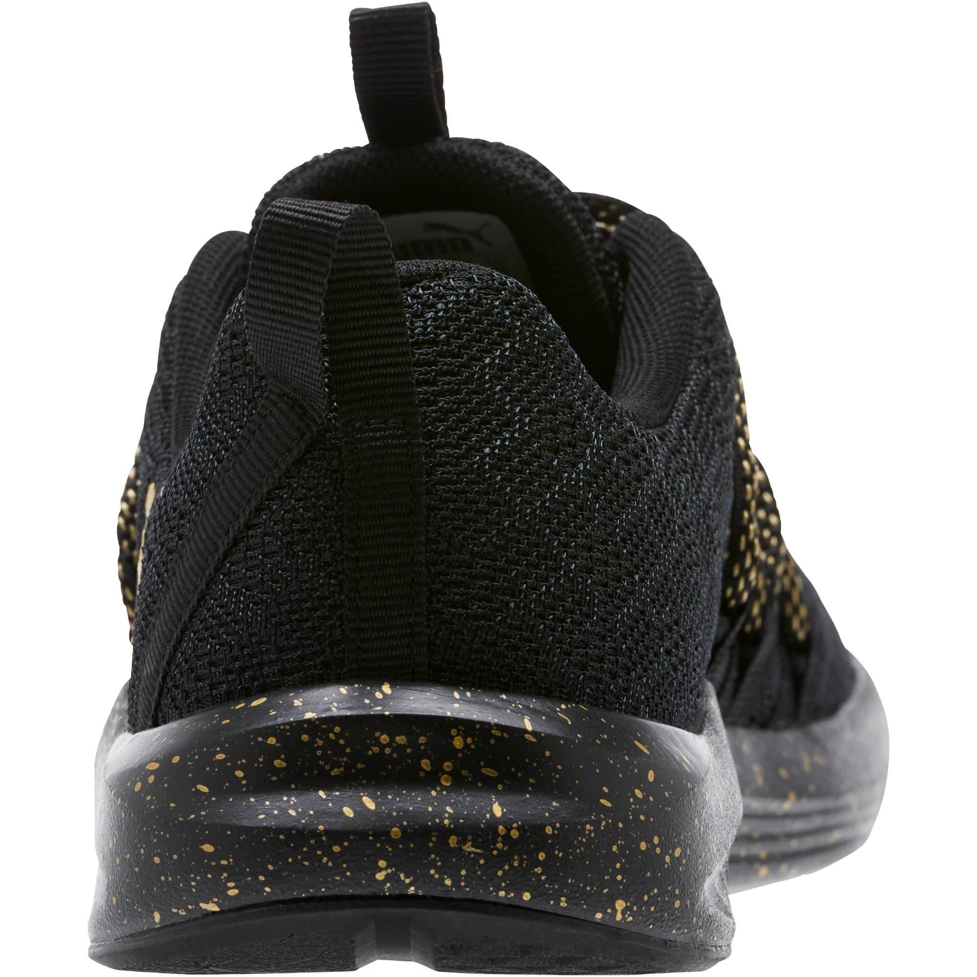 Thumbnail 4 of Prowl Alt Mesh Speckle Women's Training Shoes, Puma Black-Puma Team Gold, medium