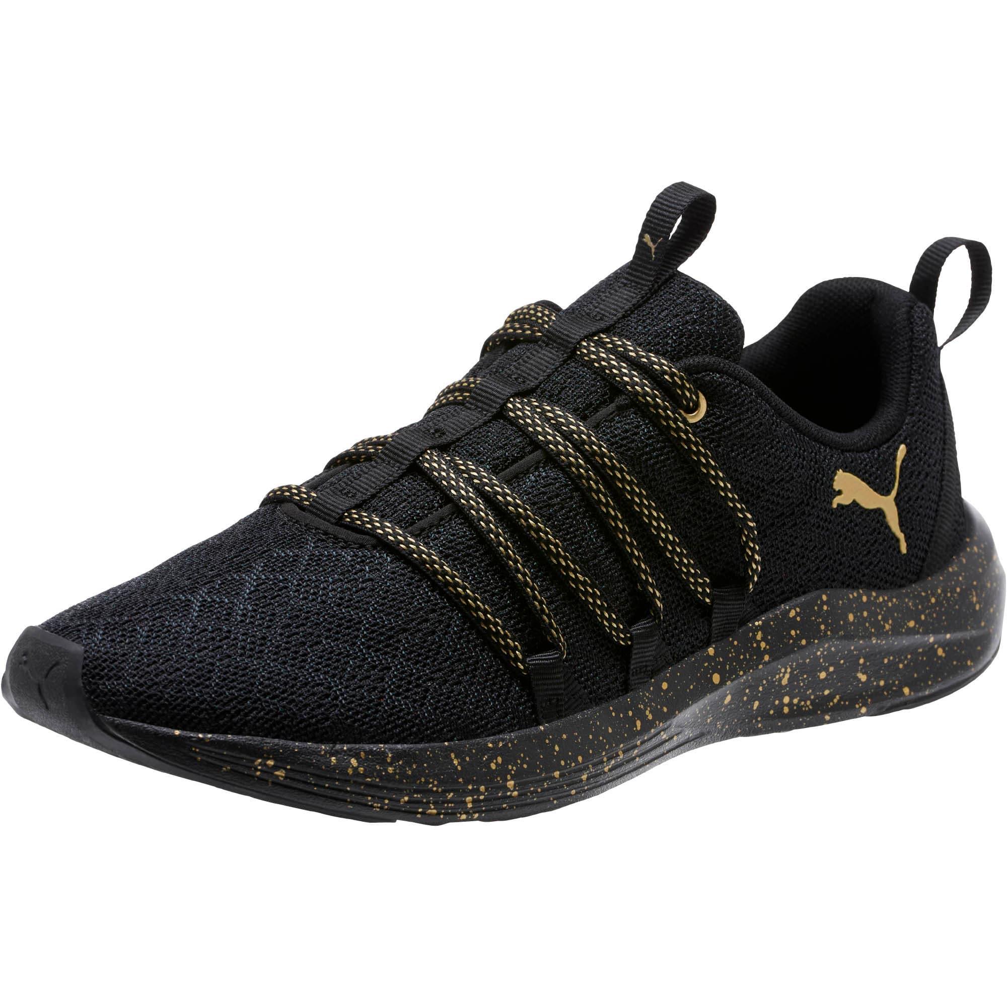 Thumbnail 1 of Prowl Alt Mesh Speckle Women's Training Shoes, Puma Black-Puma Team Gold, medium