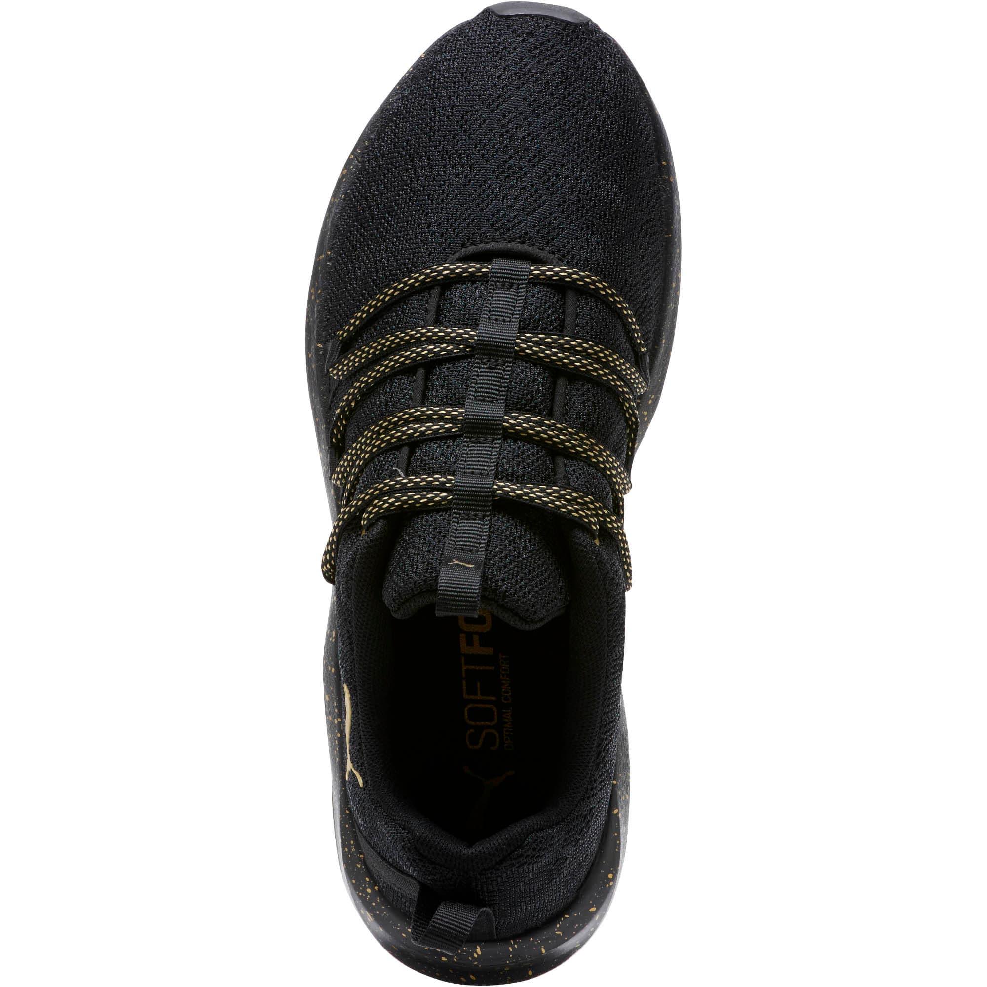 Thumbnail 5 of Prowl Alt Mesh Speckle Women's Training Shoes, Puma Black-Puma Team Gold, medium