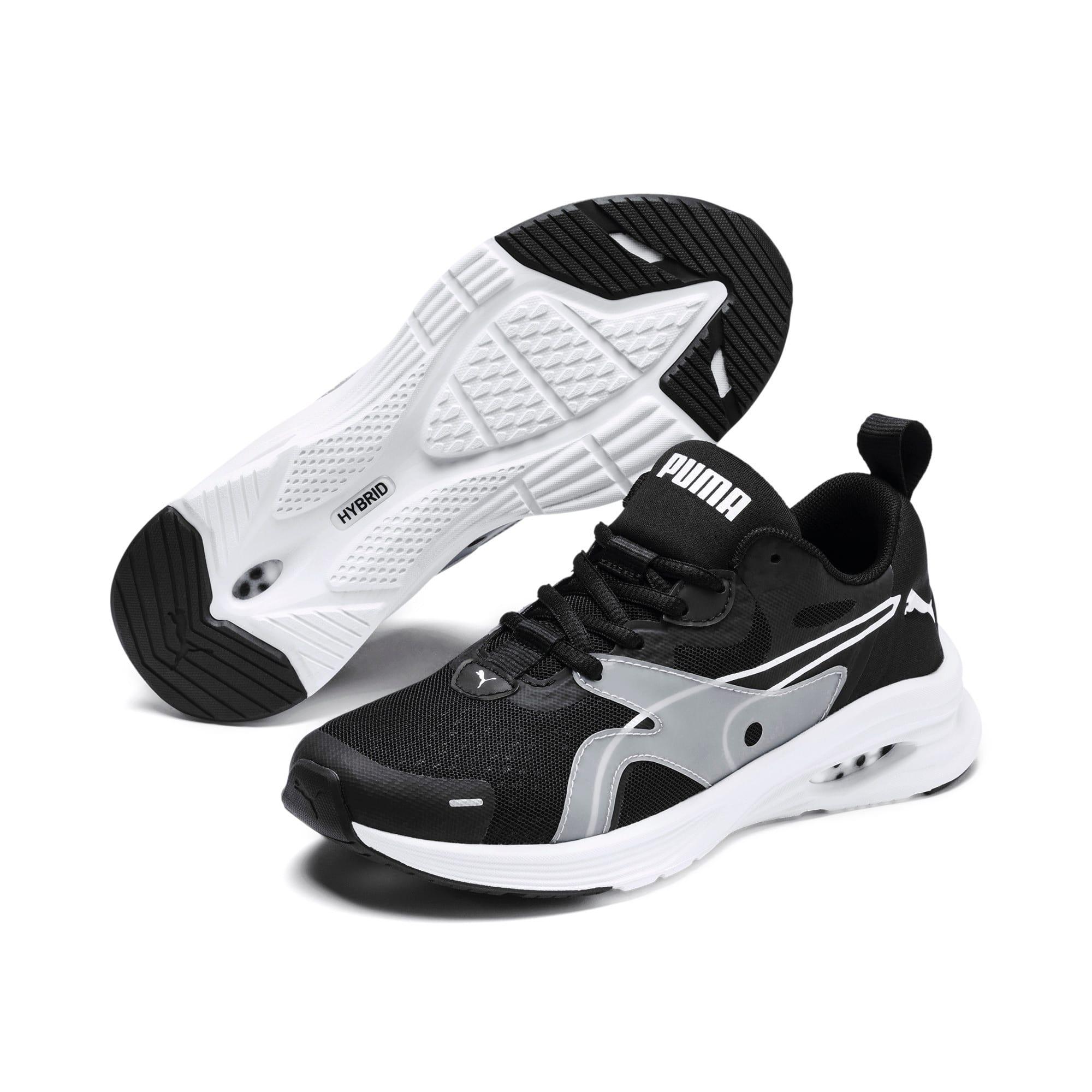 Thumbnail 2 of HYBRID Fuego Running Shoes JR, Puma Black-Puma White, medium