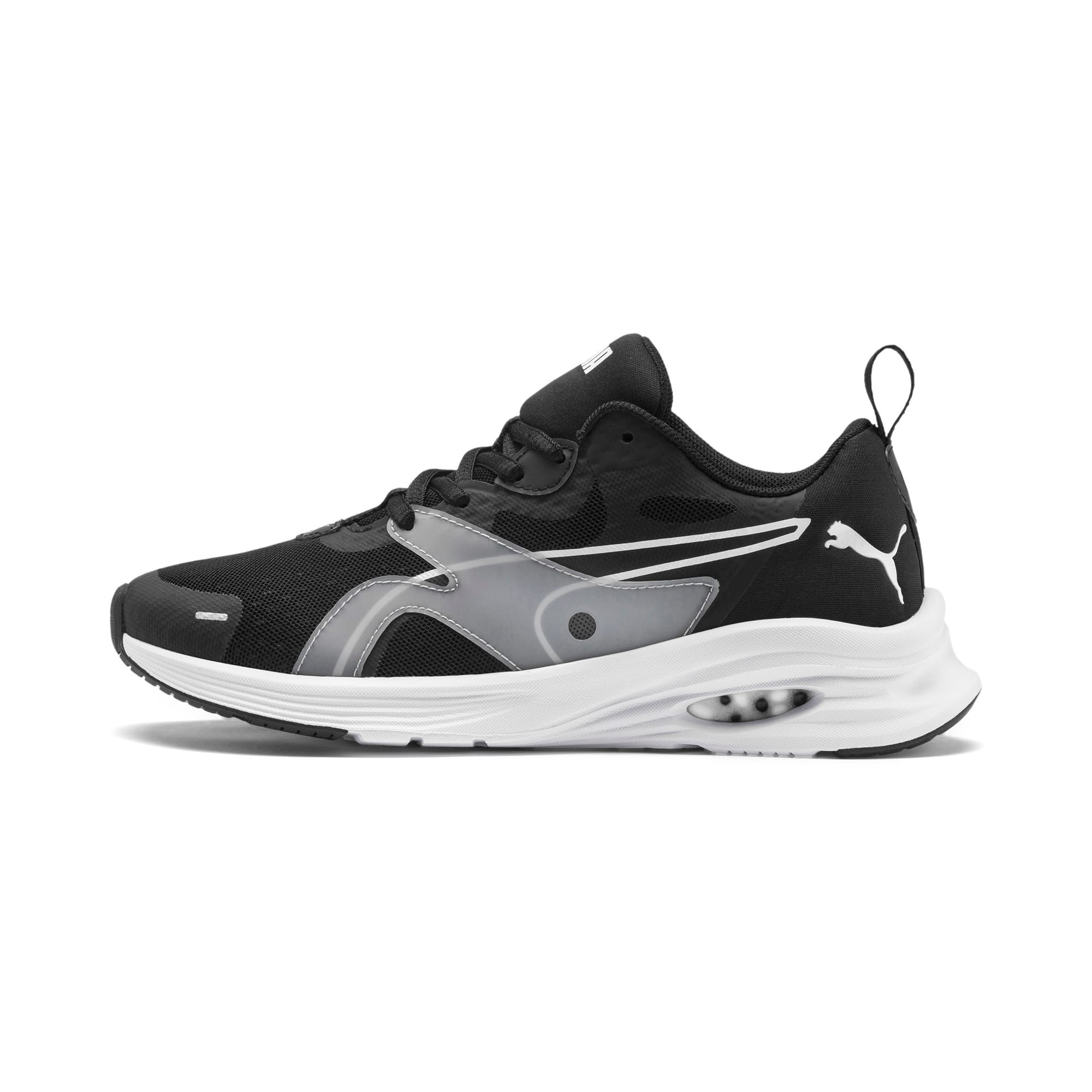 Thumbnail 1 of HYBRID Fuego Running Shoes JR, Puma Black-Puma White, medium