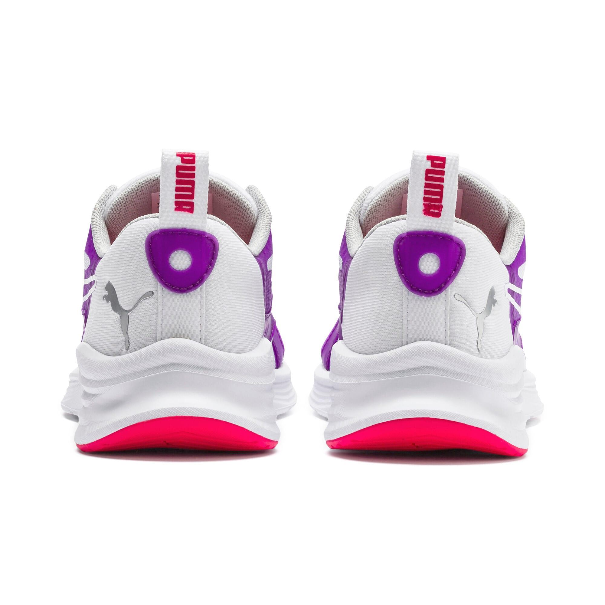 Thumbnail 4 of HYBRID Fuego Running Shoes JR, Puma White-Royal Lilac, medium