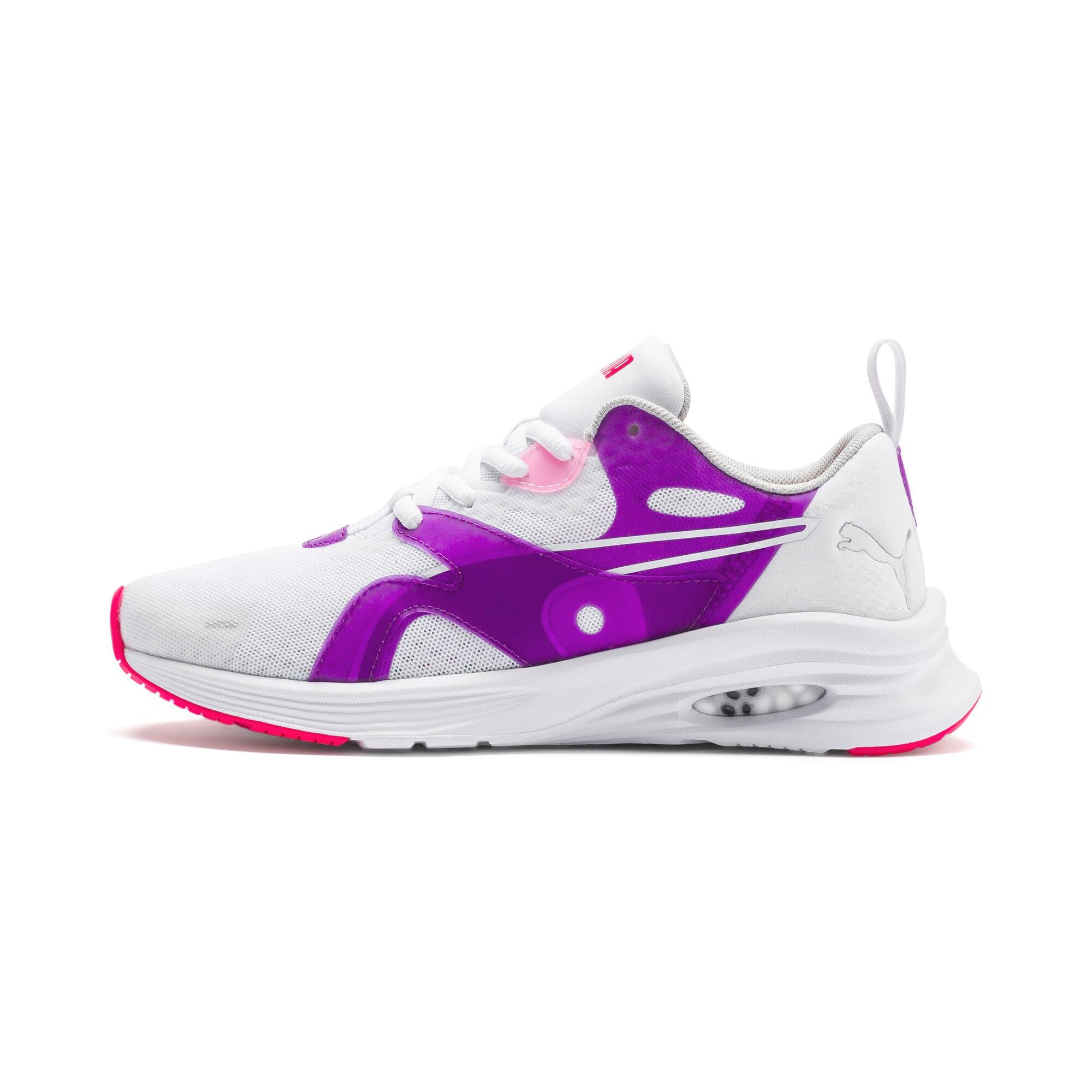 Thumbnail 1 of HYBRID Fuego Running Shoes JR, Puma White-Royal Lilac, medium