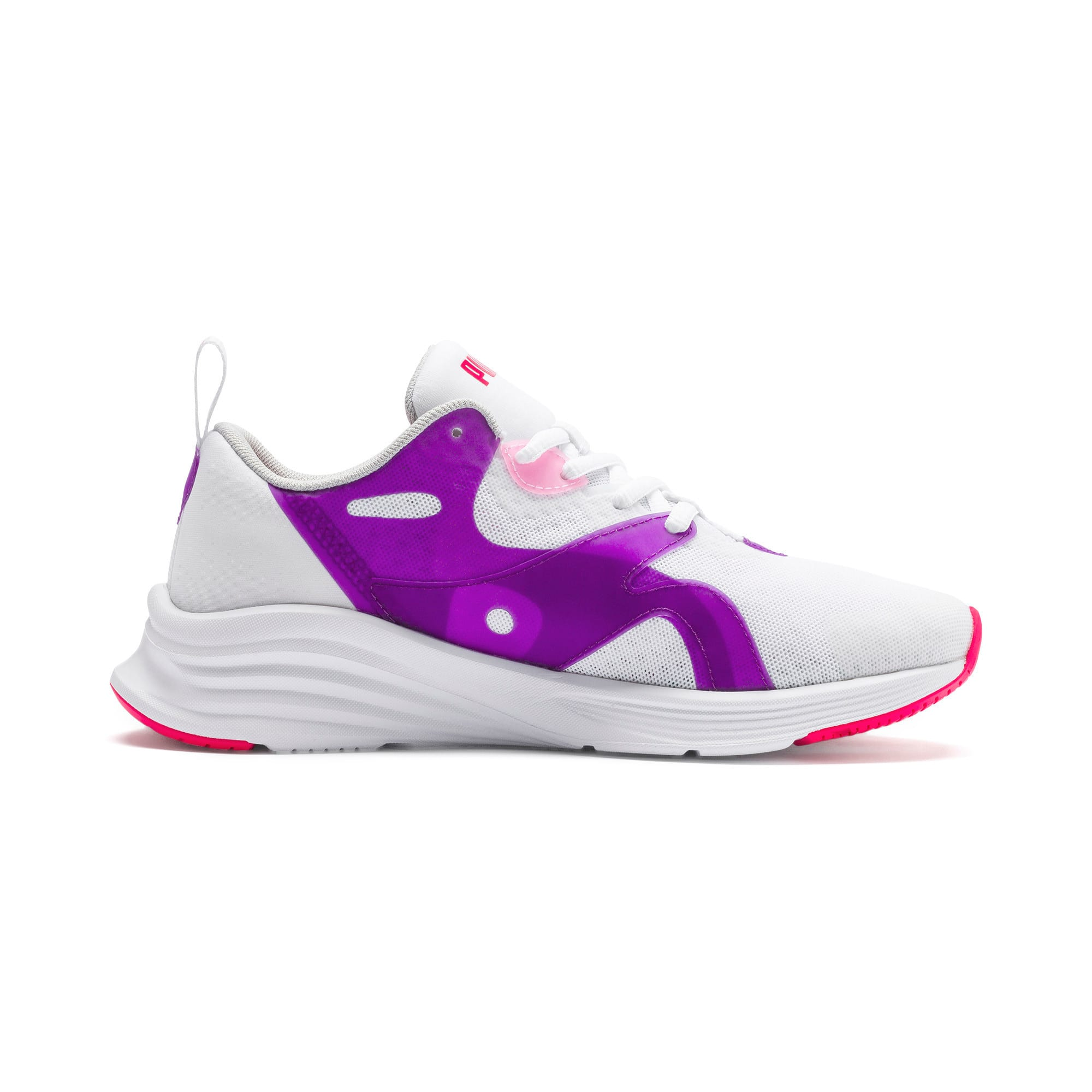 Thumbnail 5 of HYBRID Fuego Running Shoes JR, Puma White-Royal Lilac, medium