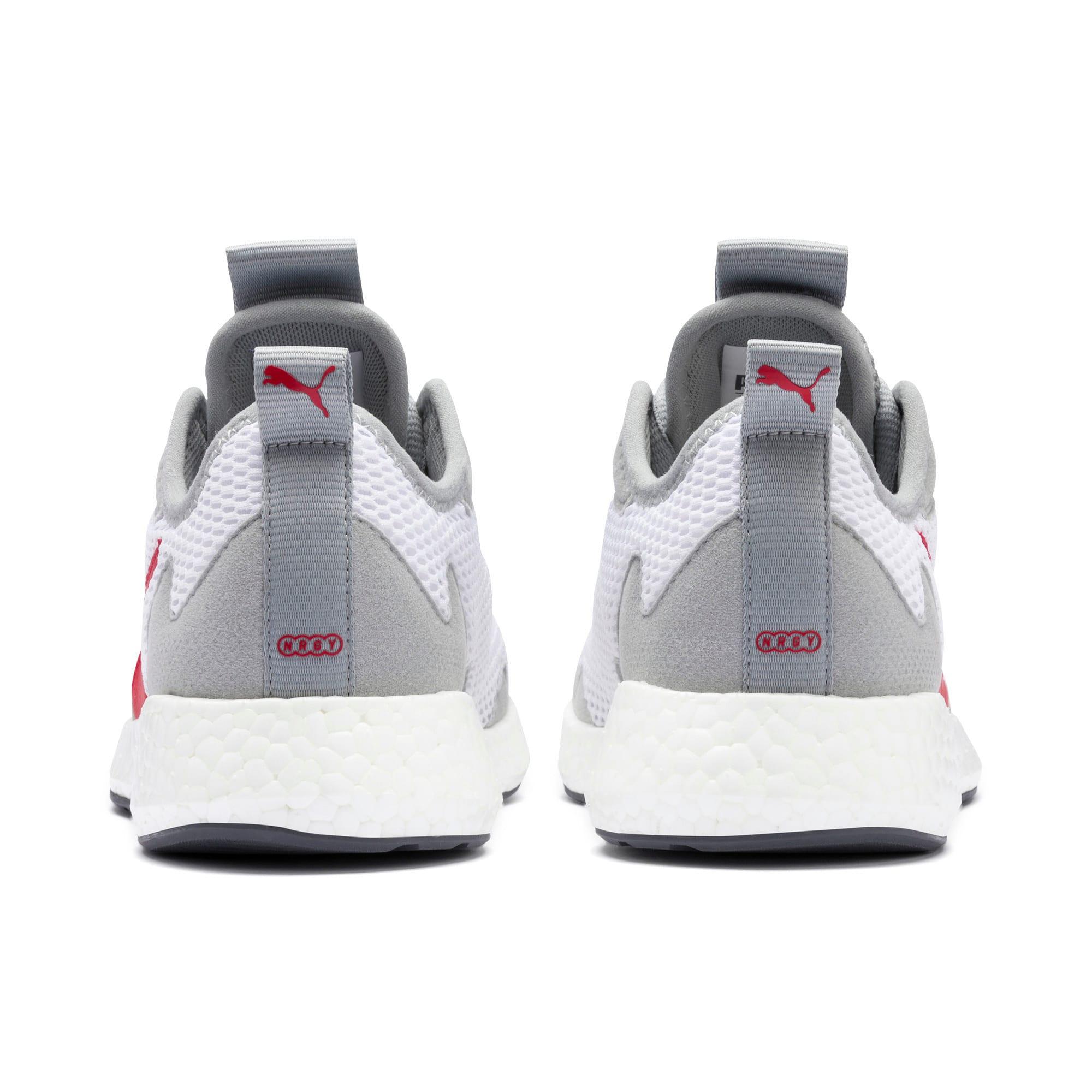 Thumbnail 3 of NRGY Neko Skim Running Shoes JR, White-H Rise-CASTLEROCK-Red, medium