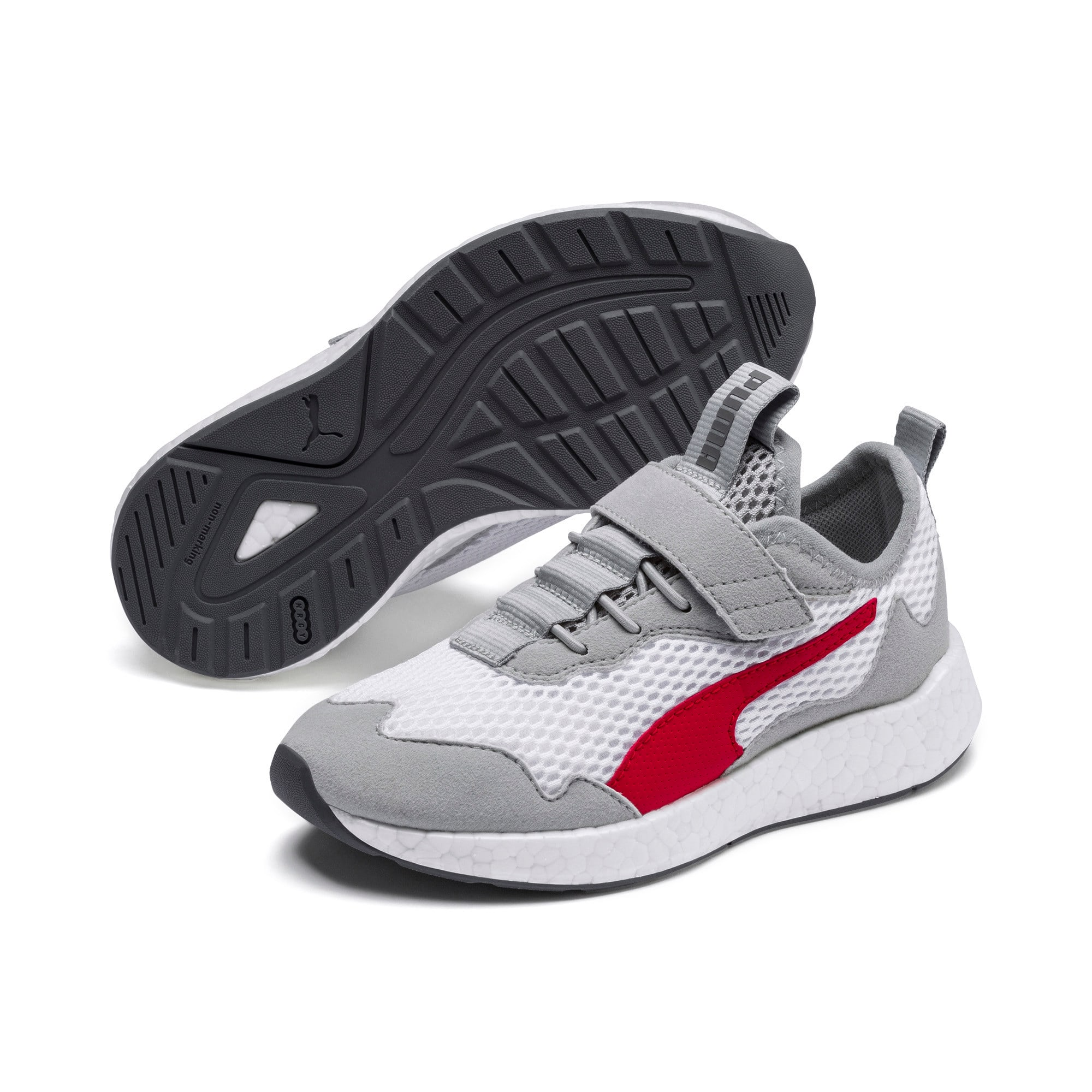 Thumbnail 2 of NRGY Neko Skim AC Kids' Trainers, White-H Rise-CASTLEROCK-Red, medium