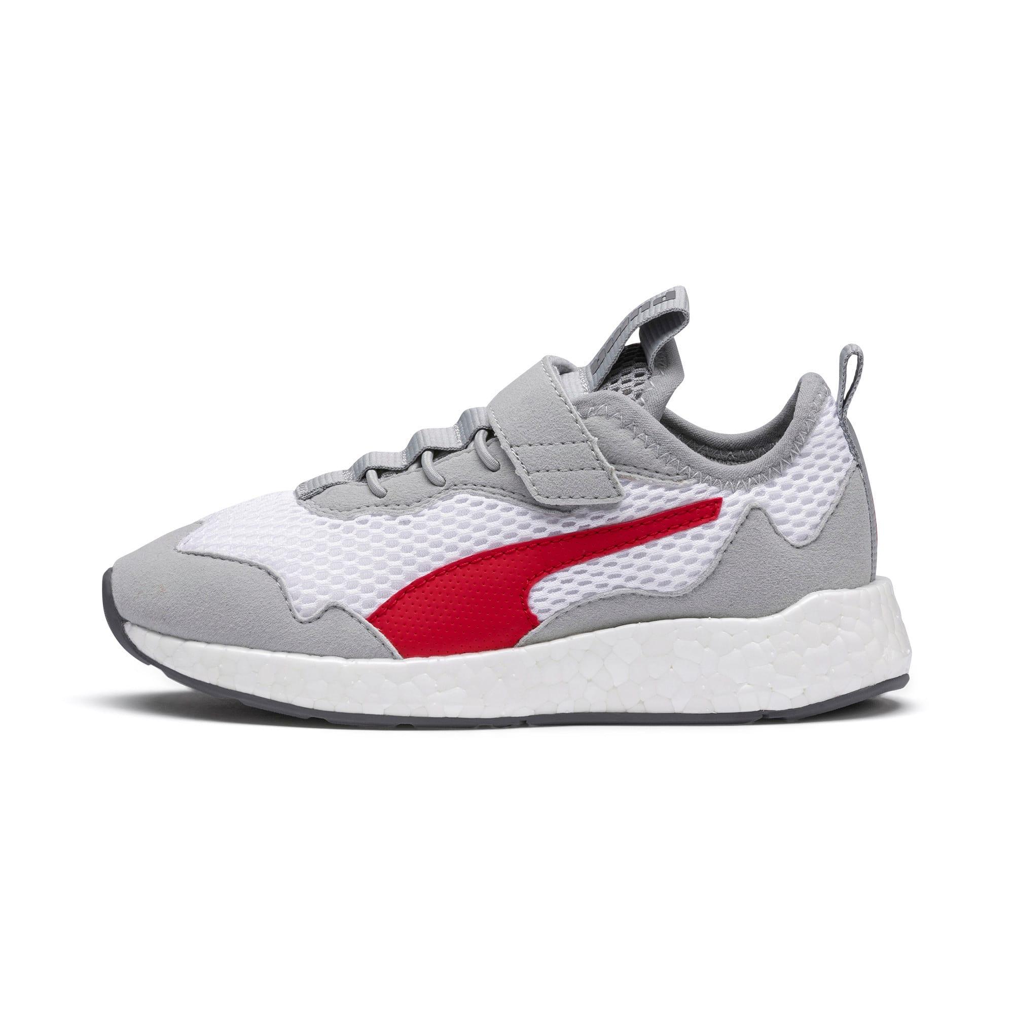 Thumbnail 1 of NRGY Neko Skim AC Shoes PS, White-H Rise-CASTLEROCK-Red, medium