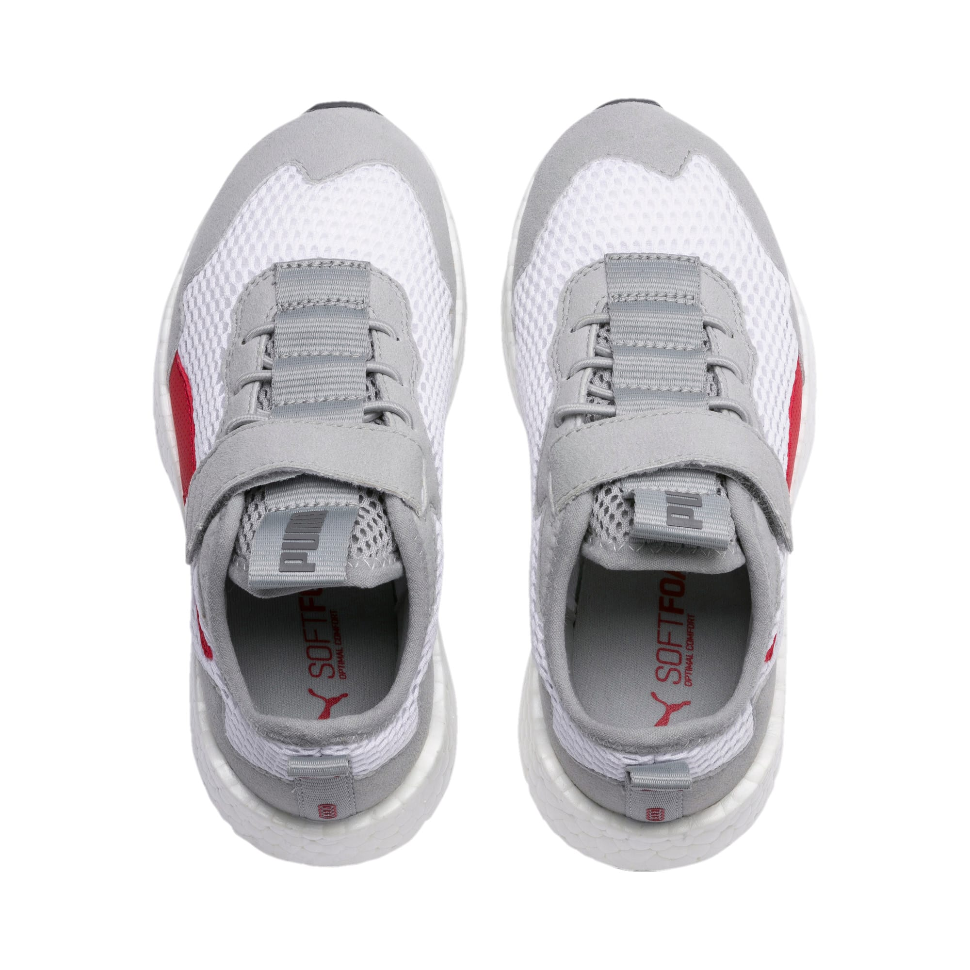 Thumbnail 6 of NRGY Neko Skim AC Kids' Trainers, White-H Rise-CASTLEROCK-Red, medium