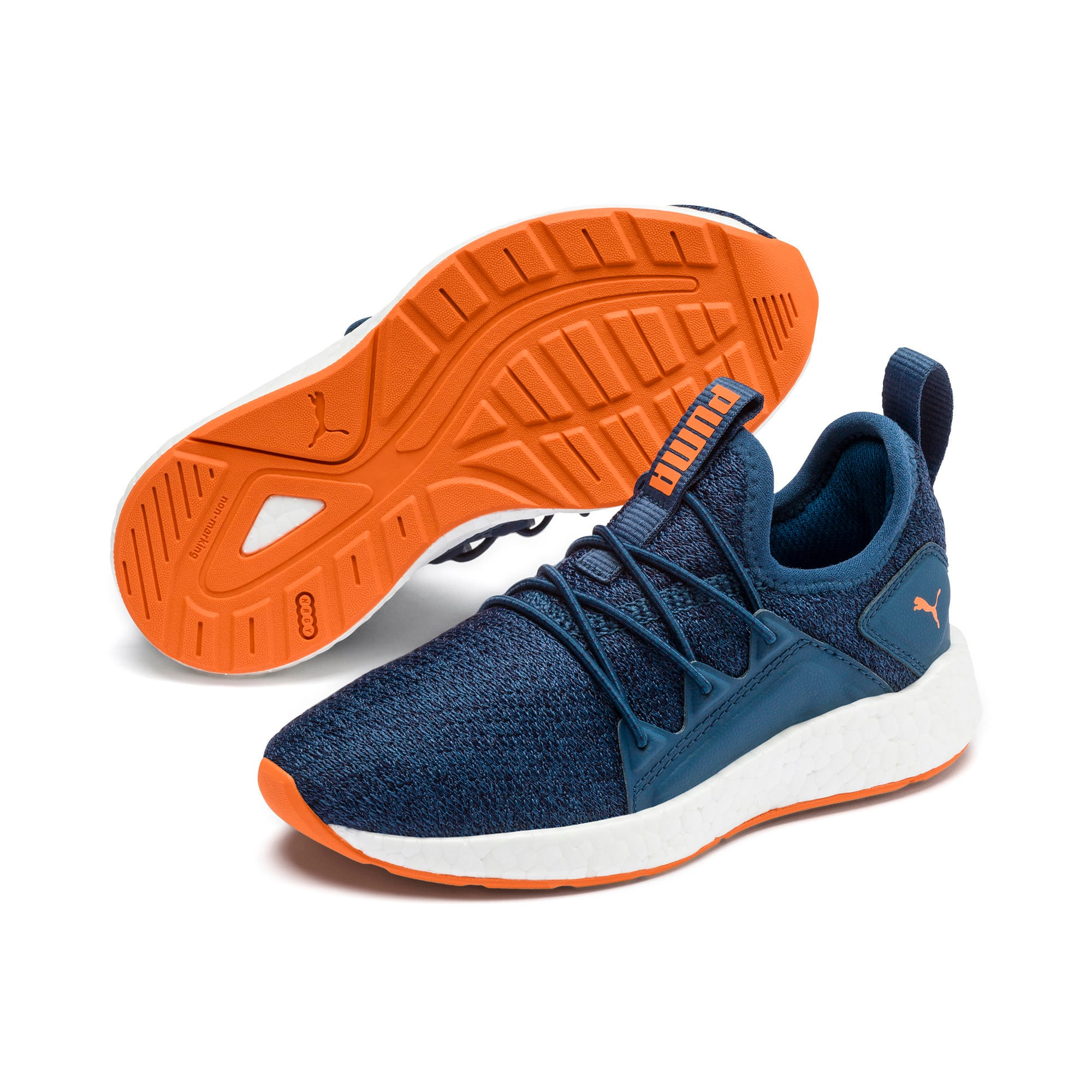 Miniatura 2 de Zapatos de punto NRGY Neko para PS, G Sea-Peacoat-J Orange-White, mediano