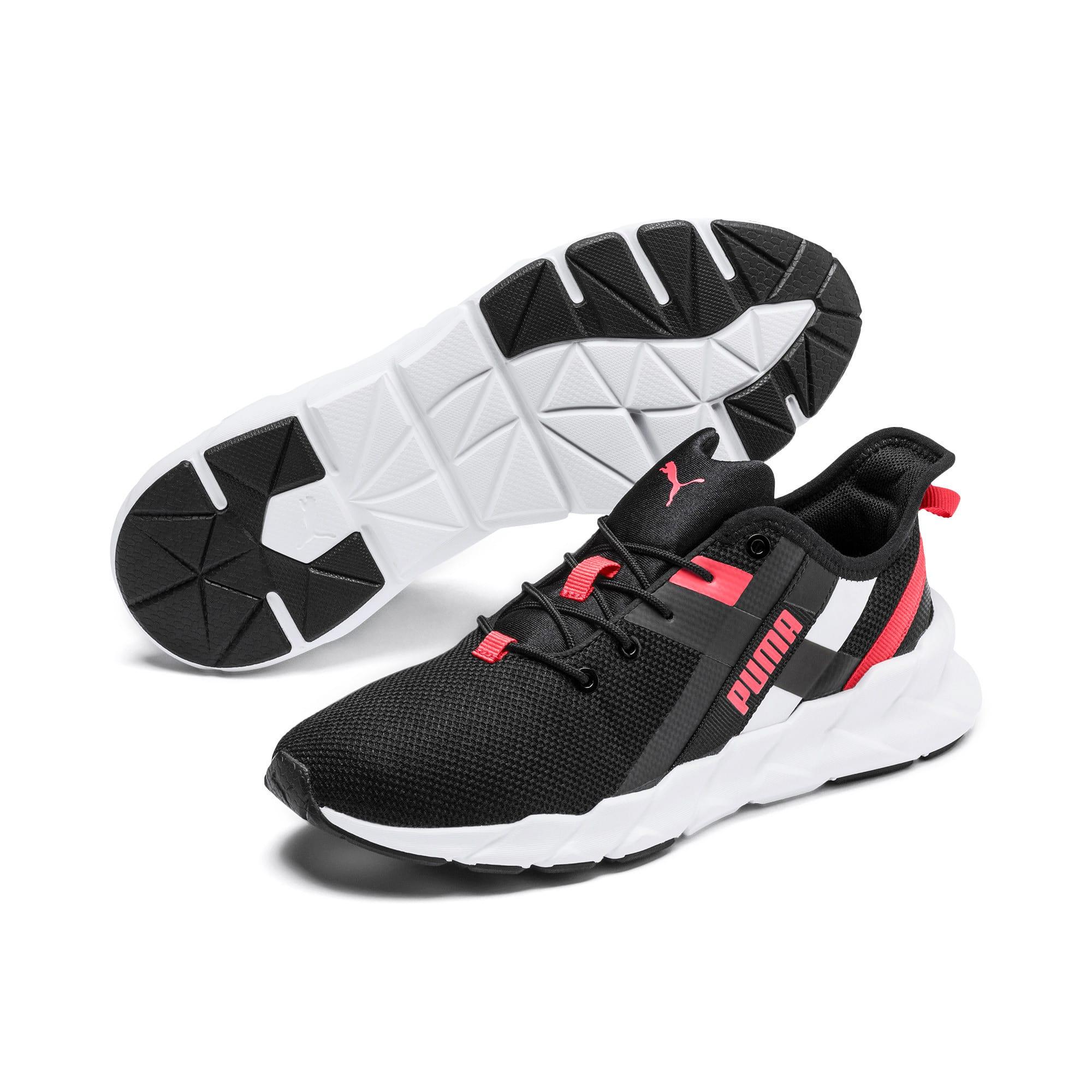 Thumbnail 2 of Weave XT Training Shoes JR, Black-White-Calypso Coral, medium