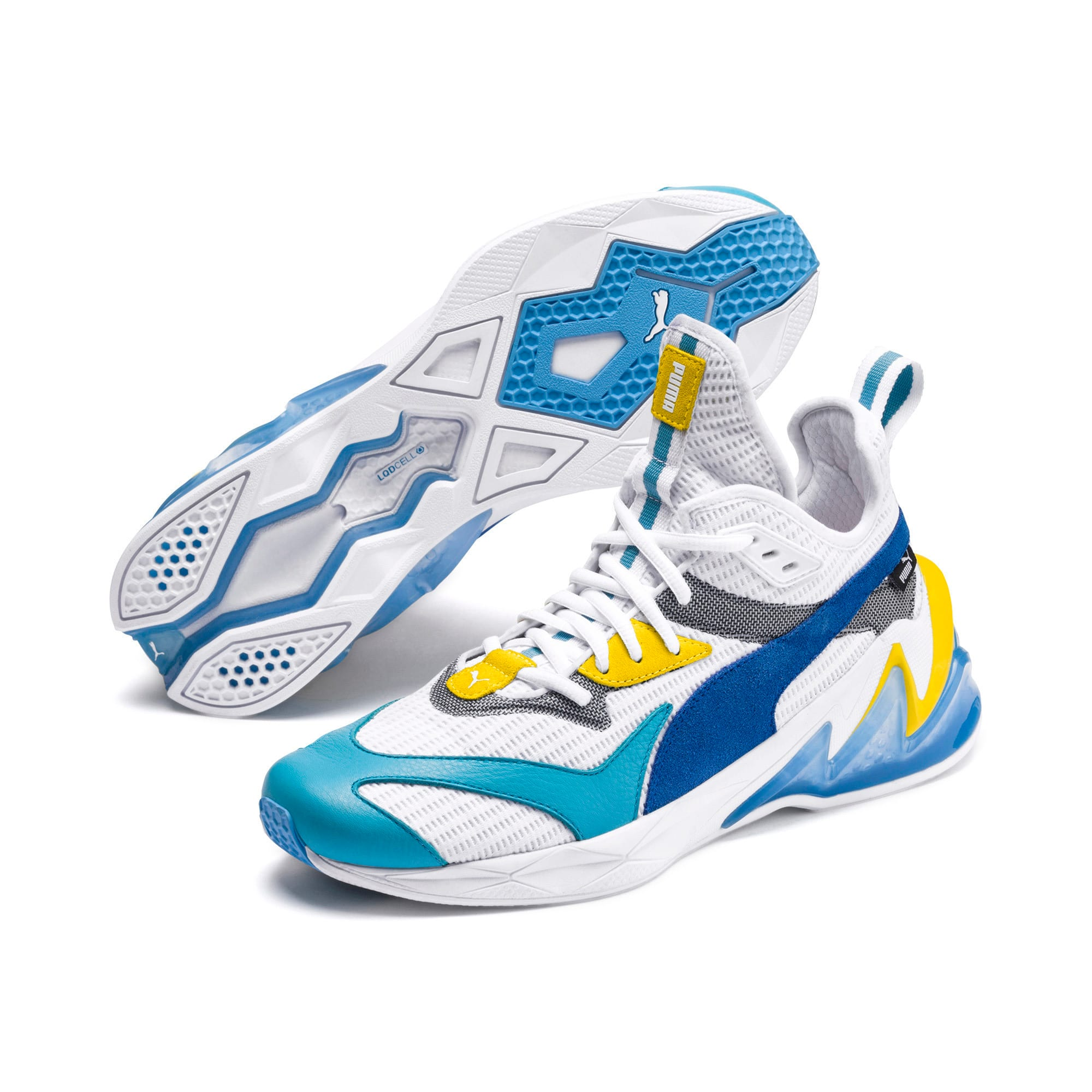 Thumbnail 2 of LQDCELL Origin Men's Training Shoes, Puma White-B Blue-Blz Yellow, medium