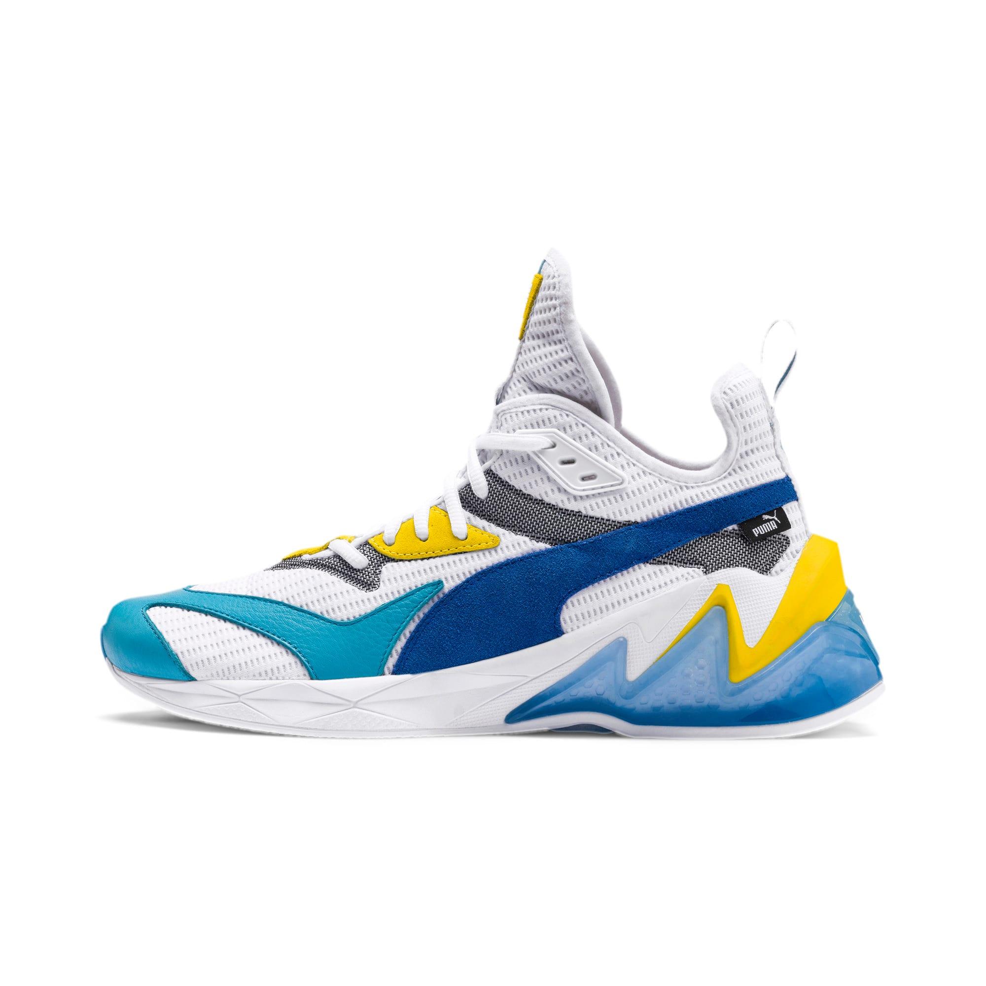 Thumbnail 1 of LQDCELL オリジン, Puma White-B Blue-Blz Yellow, medium-JPN