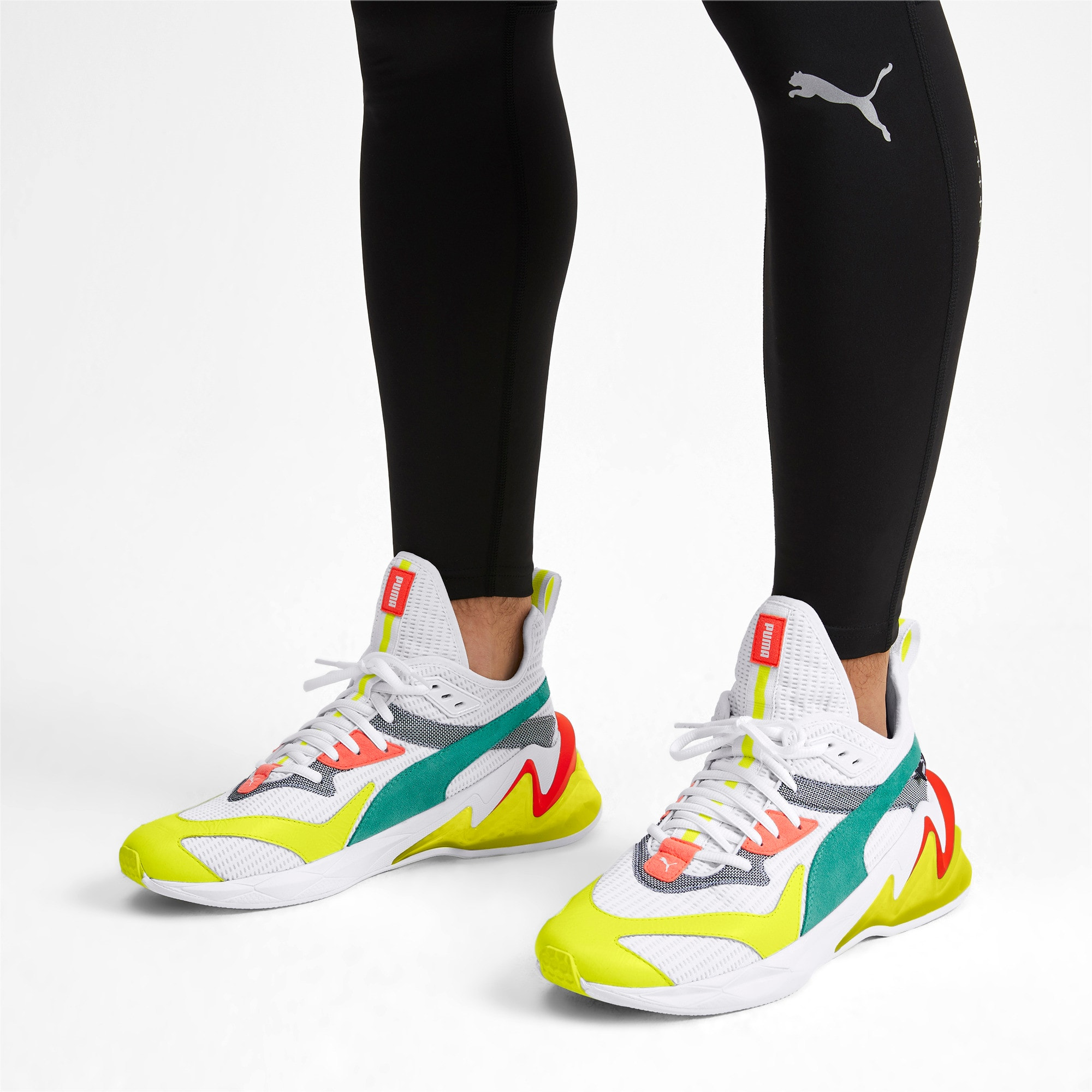 Miniatura 2 de Zapatos de entrenamientoLQDCELL Origin para hombre, Puma White-Yellow Alert, mediano