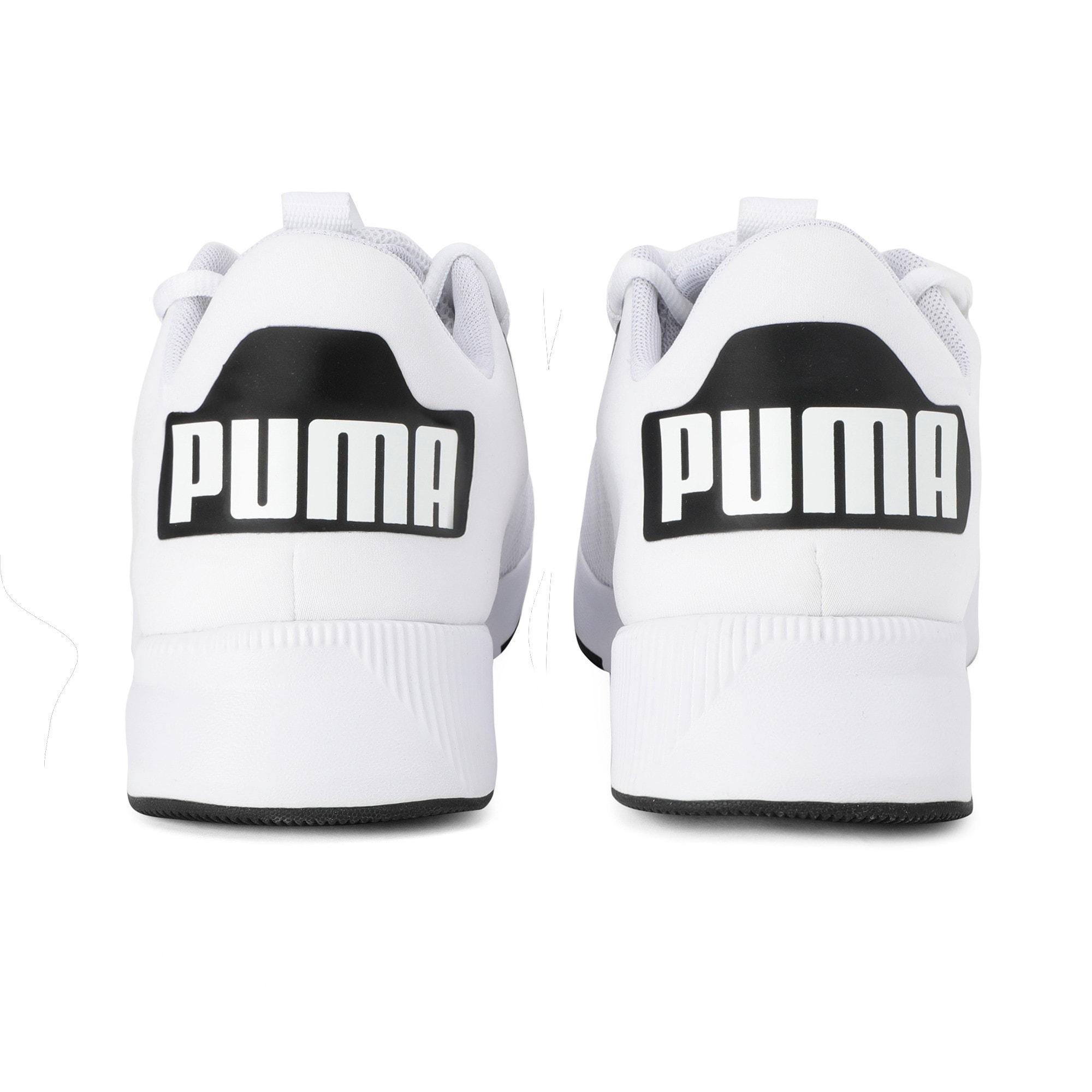 Thumbnail 3 of Flyer Modern Running Shoes, Puma White-Puma Black, medium-IND