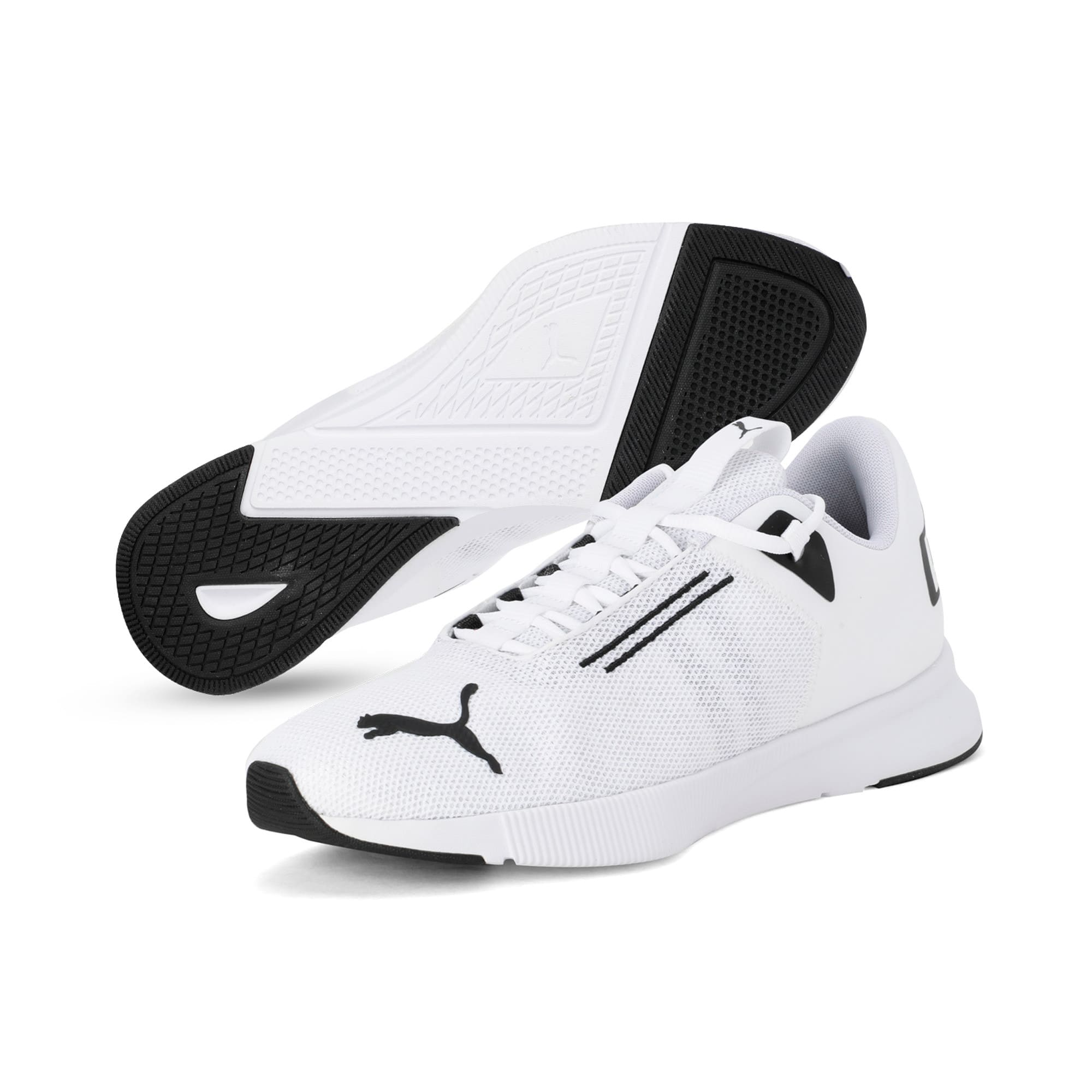 Thumbnail 2 of Flyer Modern Running Shoes, Puma White-Puma Black, medium-IND
