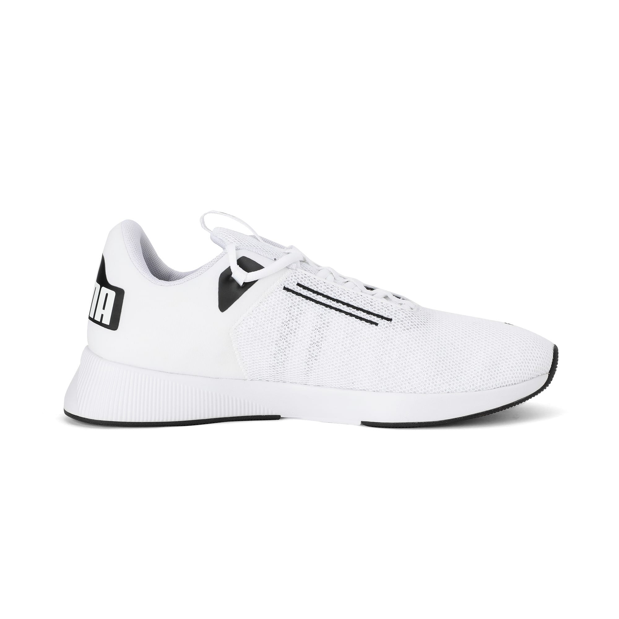 Thumbnail 5 of Flyer Modern Running Shoes, Puma White-Puma Black, medium-IND