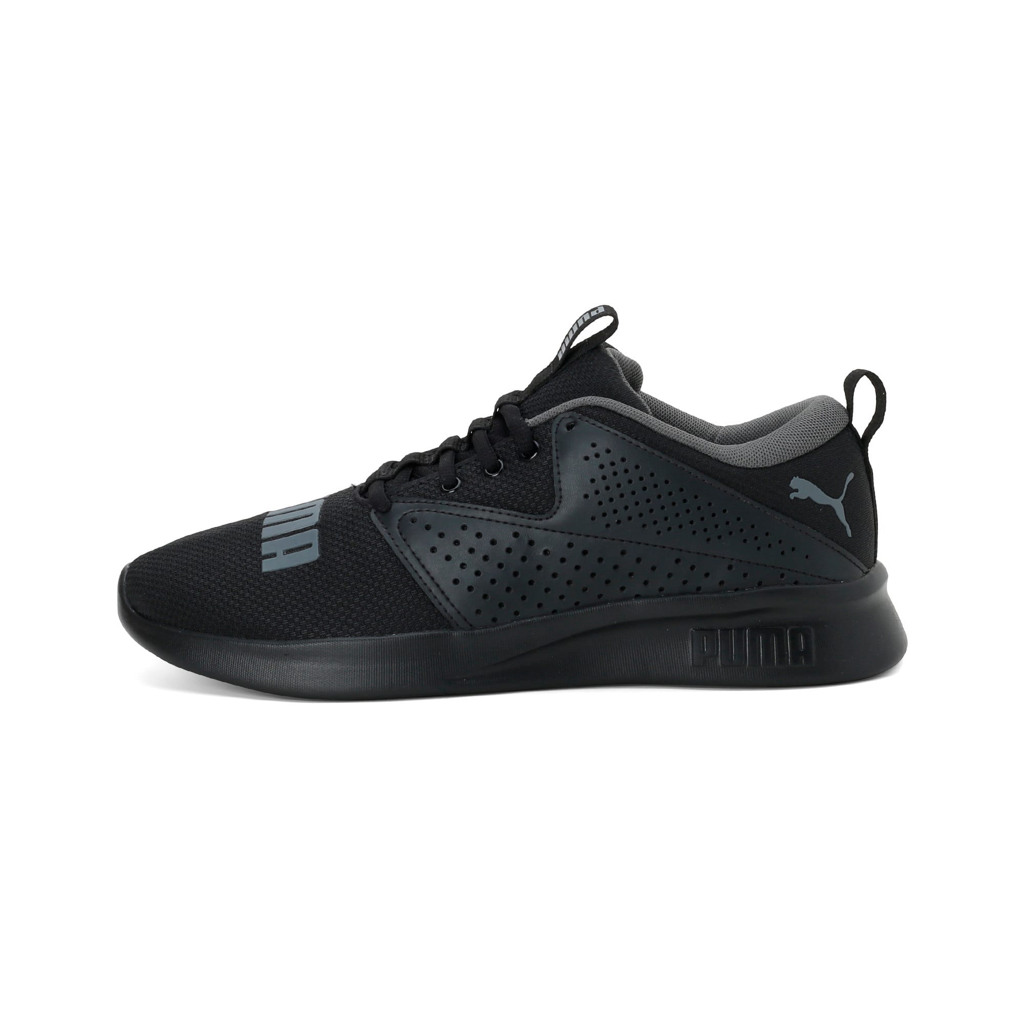 Thumbnail 1 of Flyer Modern Running Shoes, Puma Black-CASTLEROCK, medium-IND