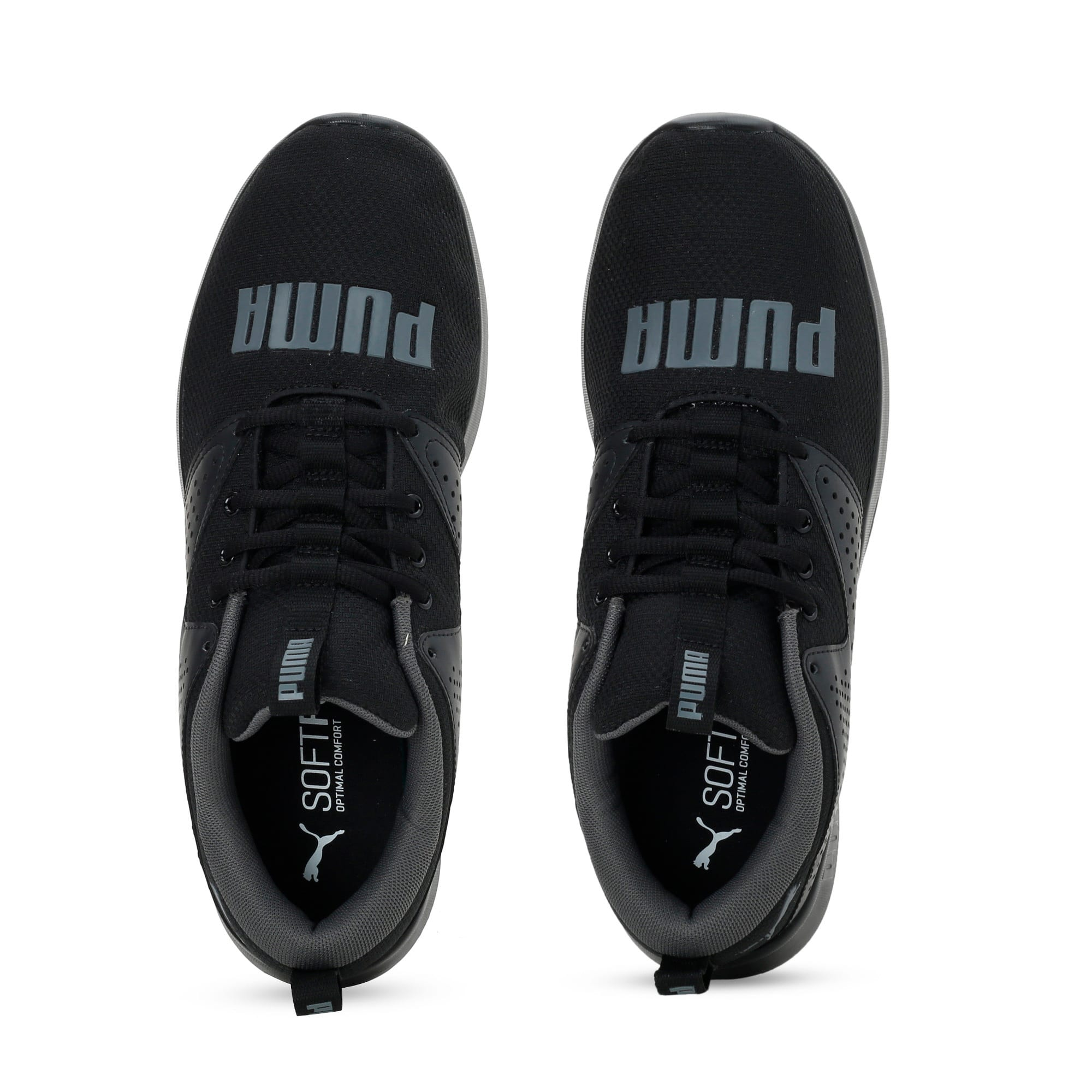 Thumbnail 4 of Flyer Modern Running Shoes, Puma Black-CASTLEROCK, medium-IND