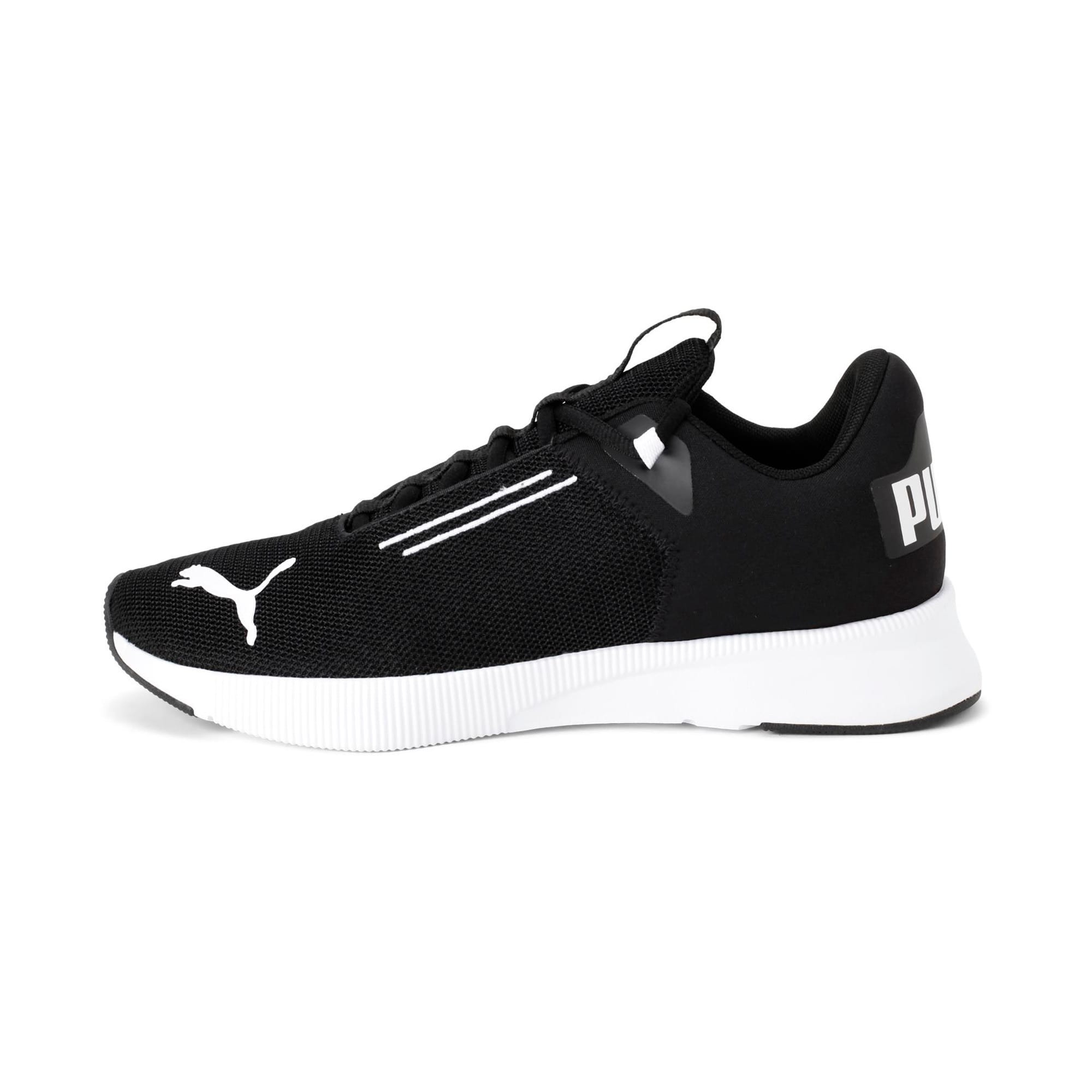 Thumbnail 1 of Flyer Modern Running Shoes, Puma Black-Puma White, medium-IND