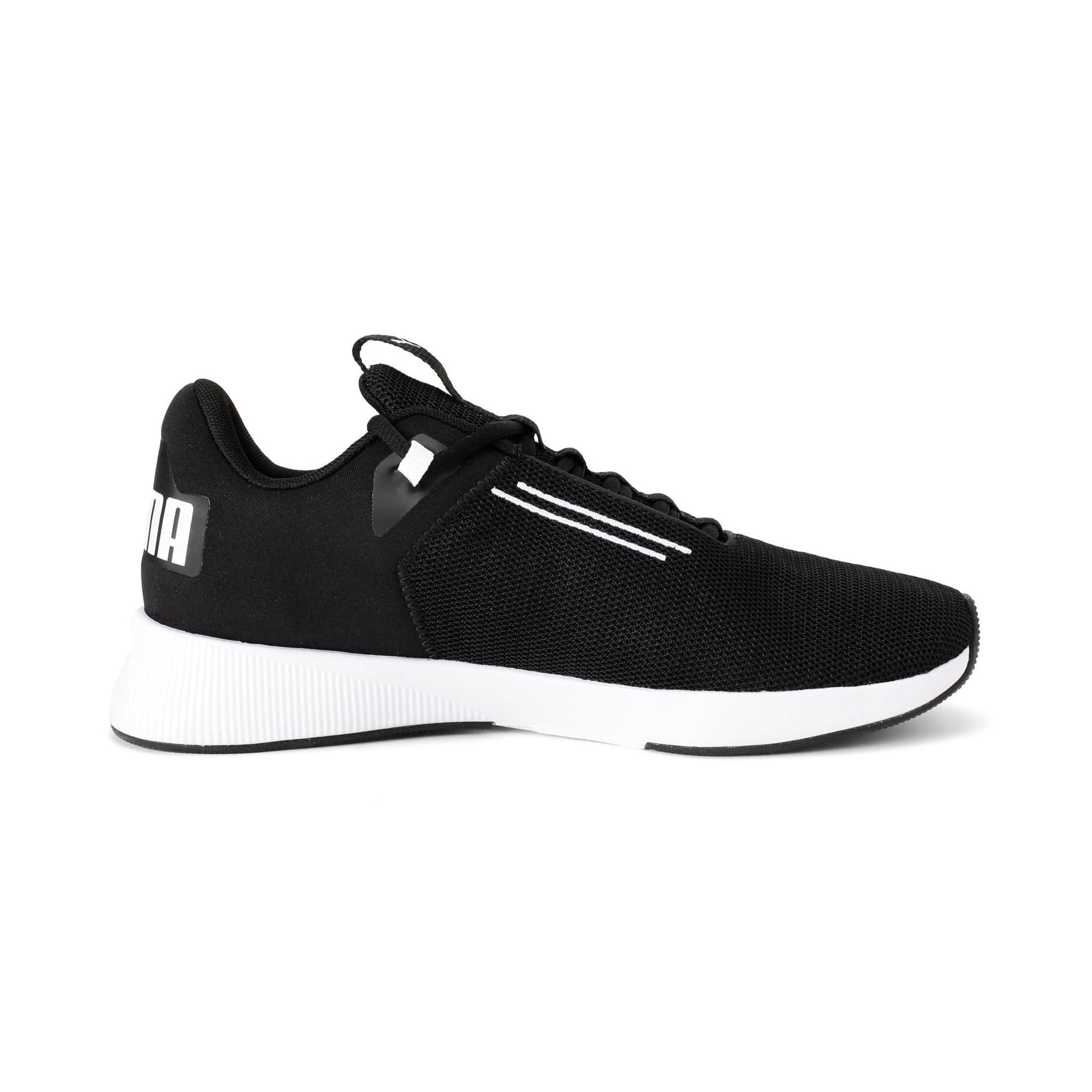 Thumbnail 5 of Flyer Modern Running Shoes, Puma Black-Puma White, medium-IND
