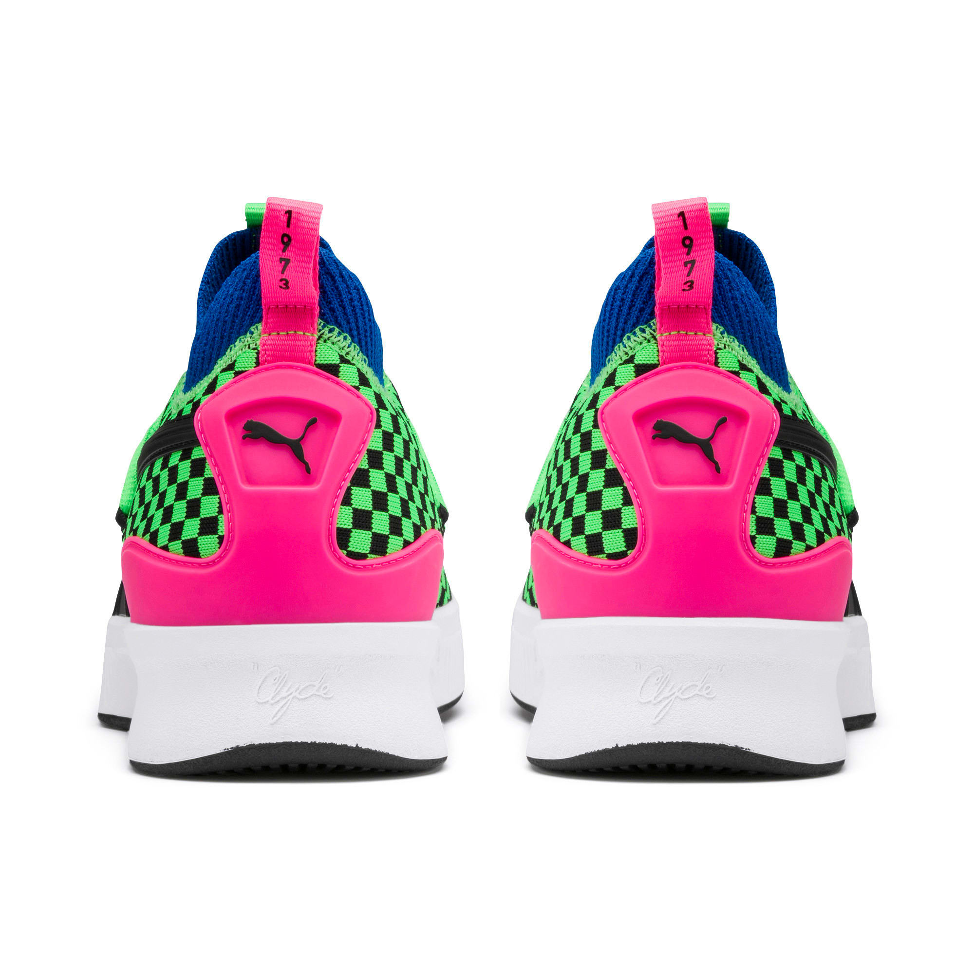 Thumbnail 3 of Clyde Court Summertime Basketball Shoes, 802 C Fluro Green PES, medium