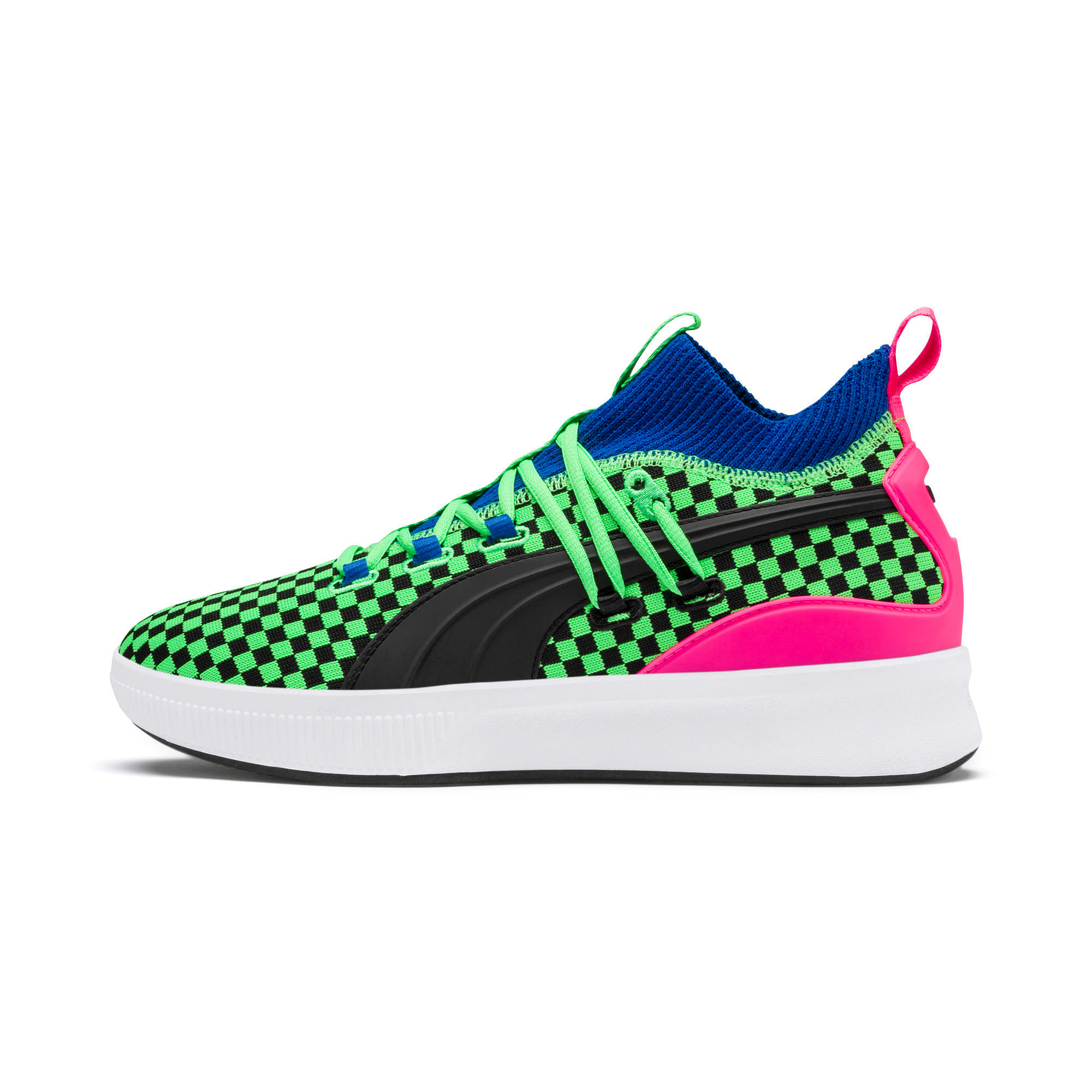 Thumbnail 1 of Clyde Court Summertime Basketball Shoes, 802 C Fluro Green PES, medium