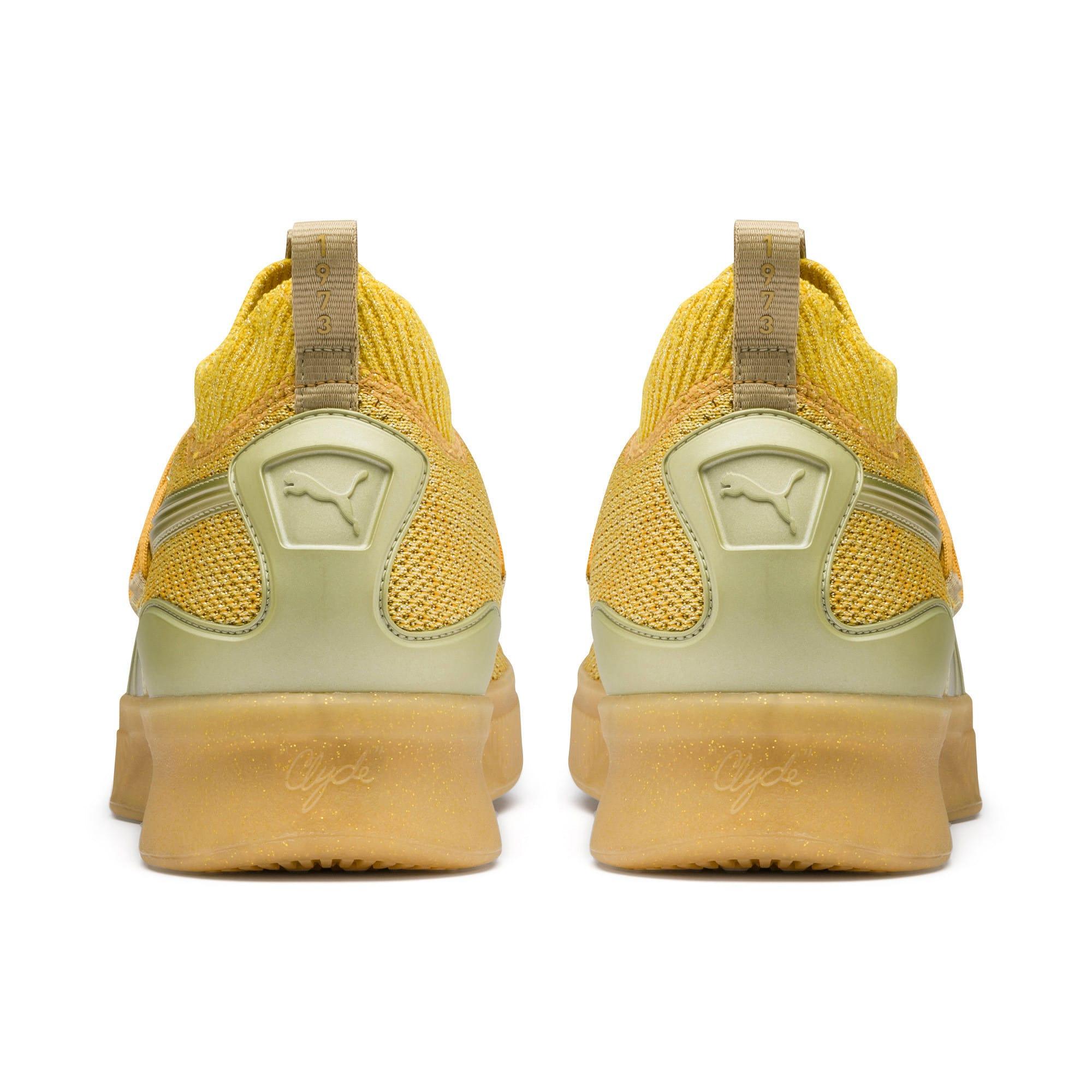Thumbnail 3 of Clyde Court Title Run Basketball Shoes, Metallic Gold, medium