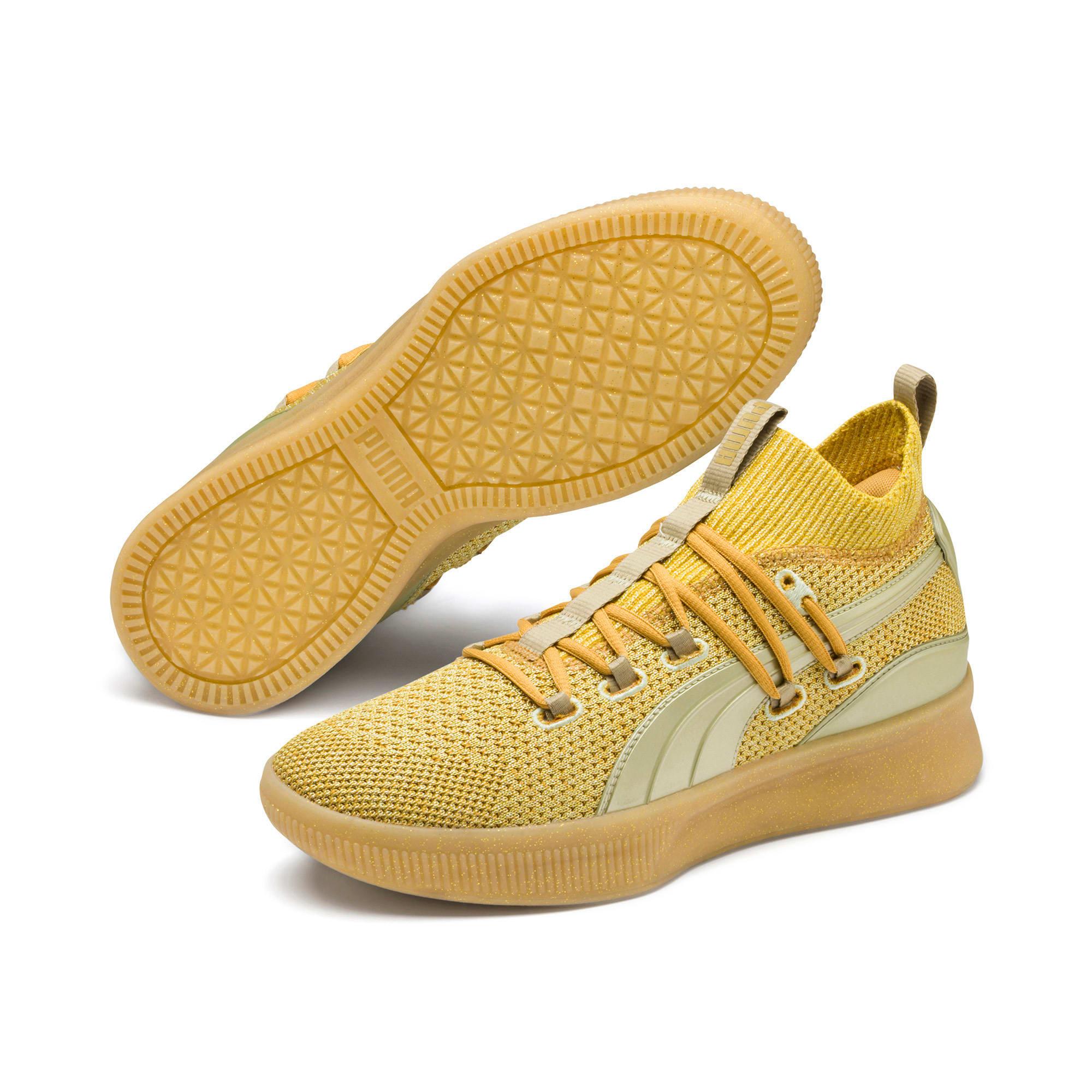 Thumbnail 2 of Clyde Court Title Run Basketball Shoes, Metallic Gold, medium