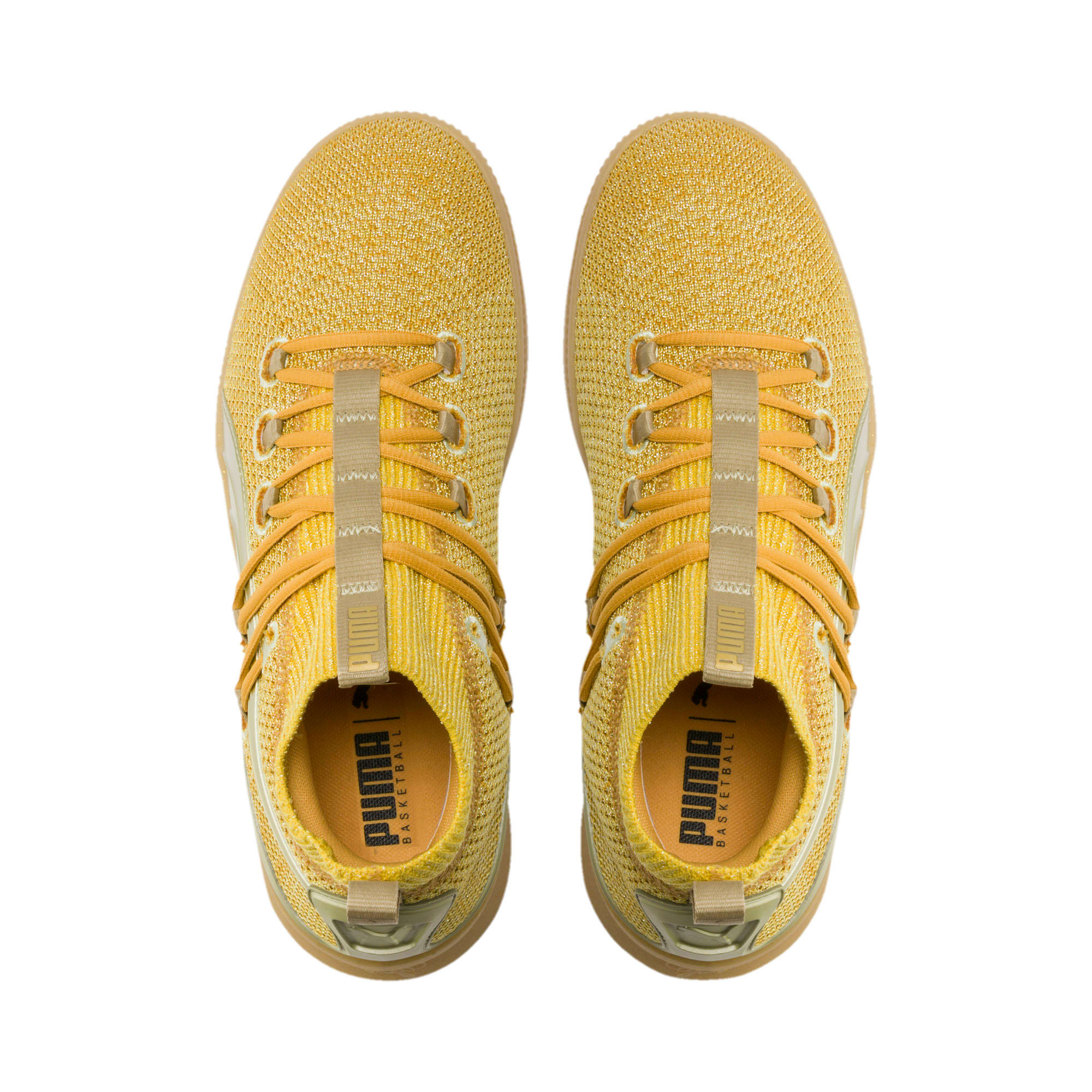 Thumbnail 6 of Clyde Court Title Run Basketball Shoes, Metallic Gold, medium
