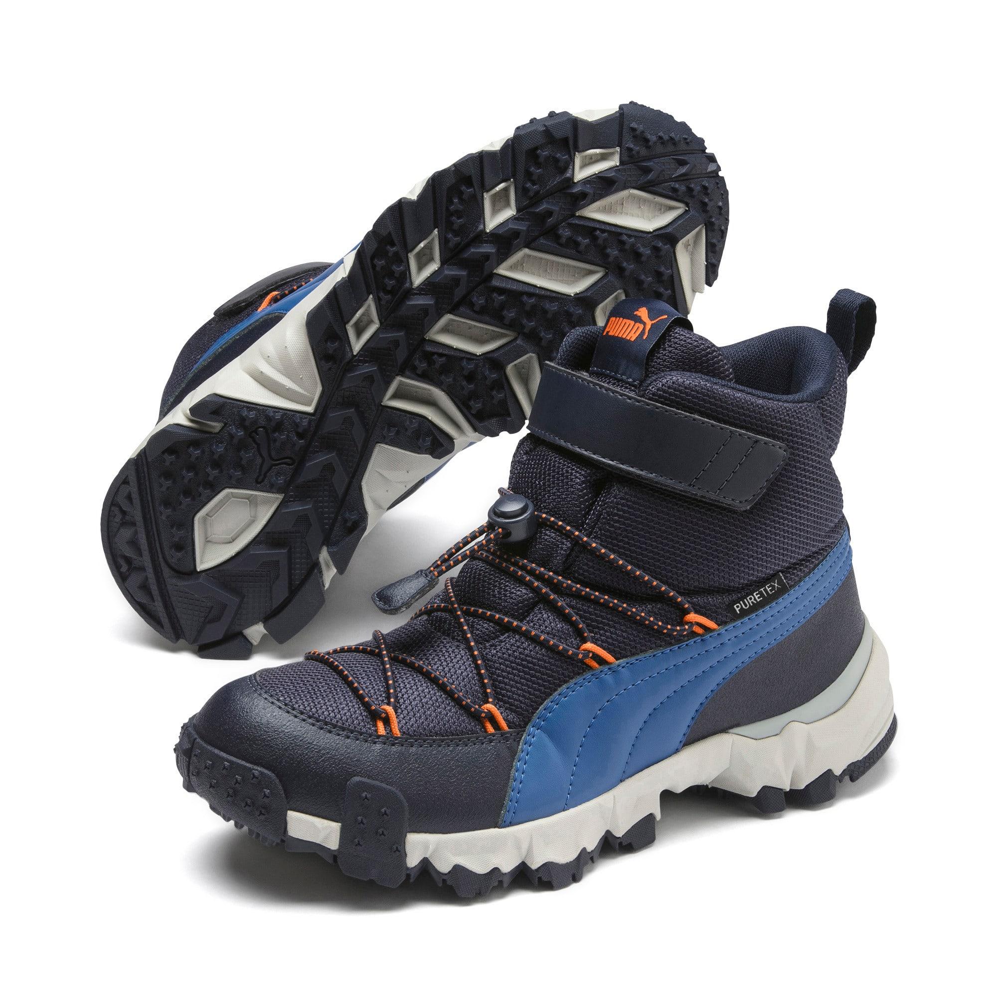 Thumbnail 2 of Maka PURETEX Boots JR, Peacoat-Jaffa Orange, medium