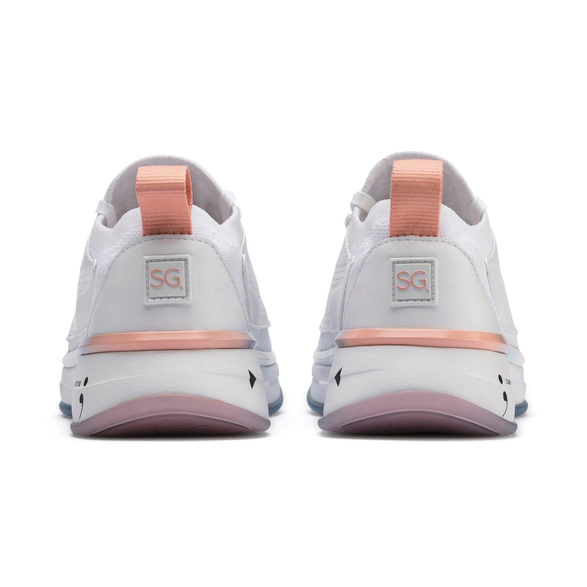 Miniatura 4 de Zapatos de entrenamiento SG Runner Ice para mujer, Puma White-Peach Bud, mediano
