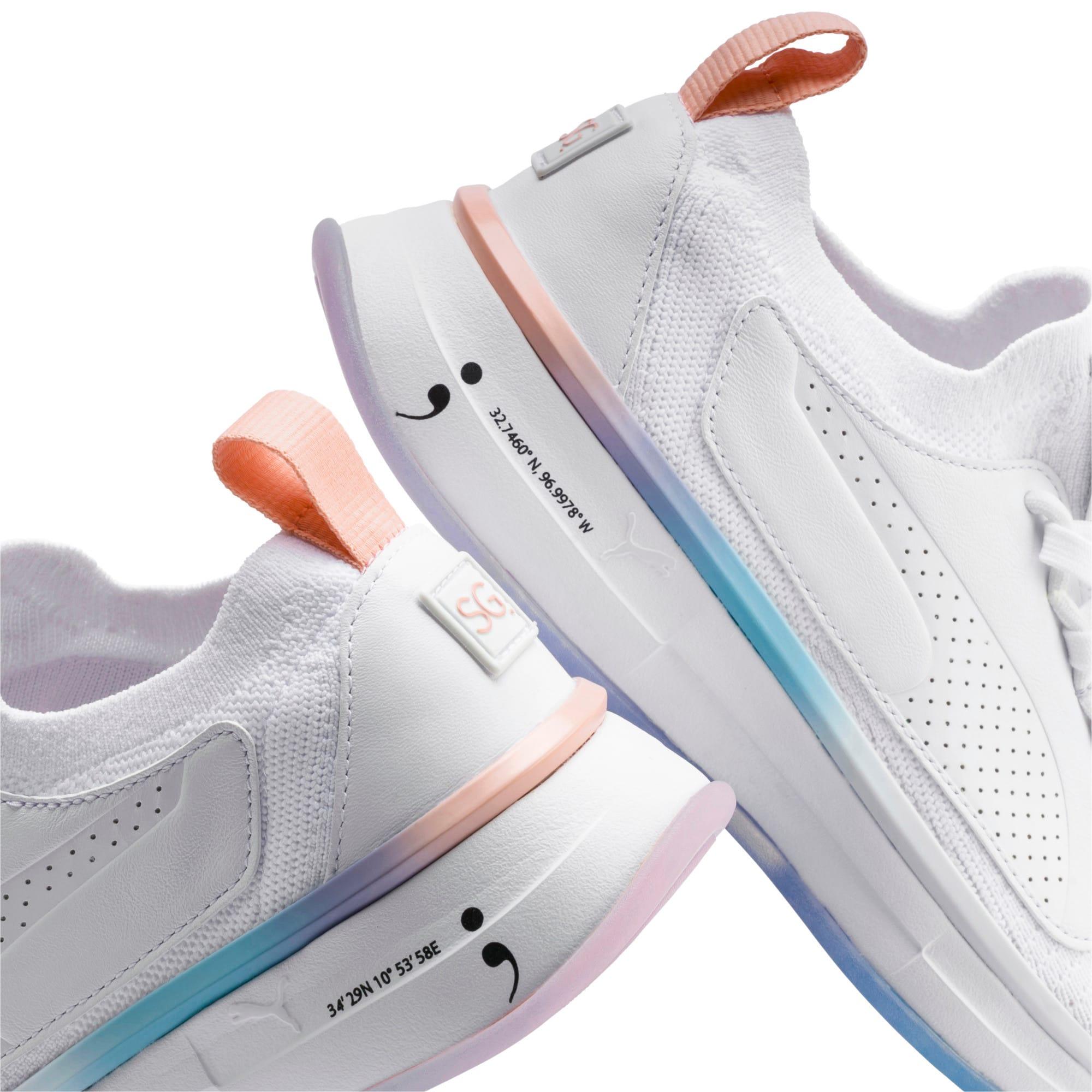 Thumbnail 8 of PUMA x SELENA GOMEZ Runner Women's Training Shoes, Puma White-Peach Bud, medium