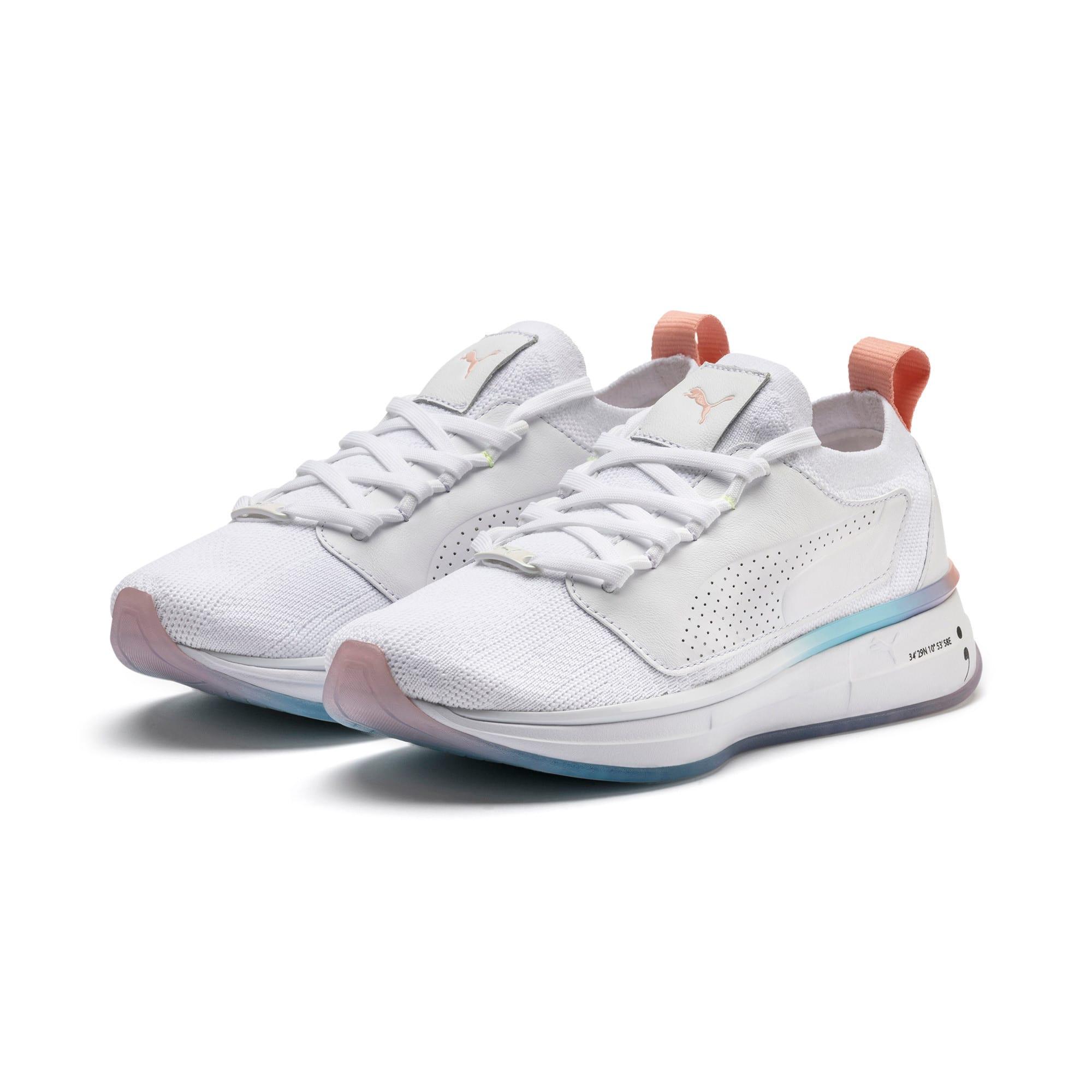 Thumbnail 3 of PUMA x SELENA GOMEZ Runner Women's Training Shoes, Puma White-Peach Bud, medium