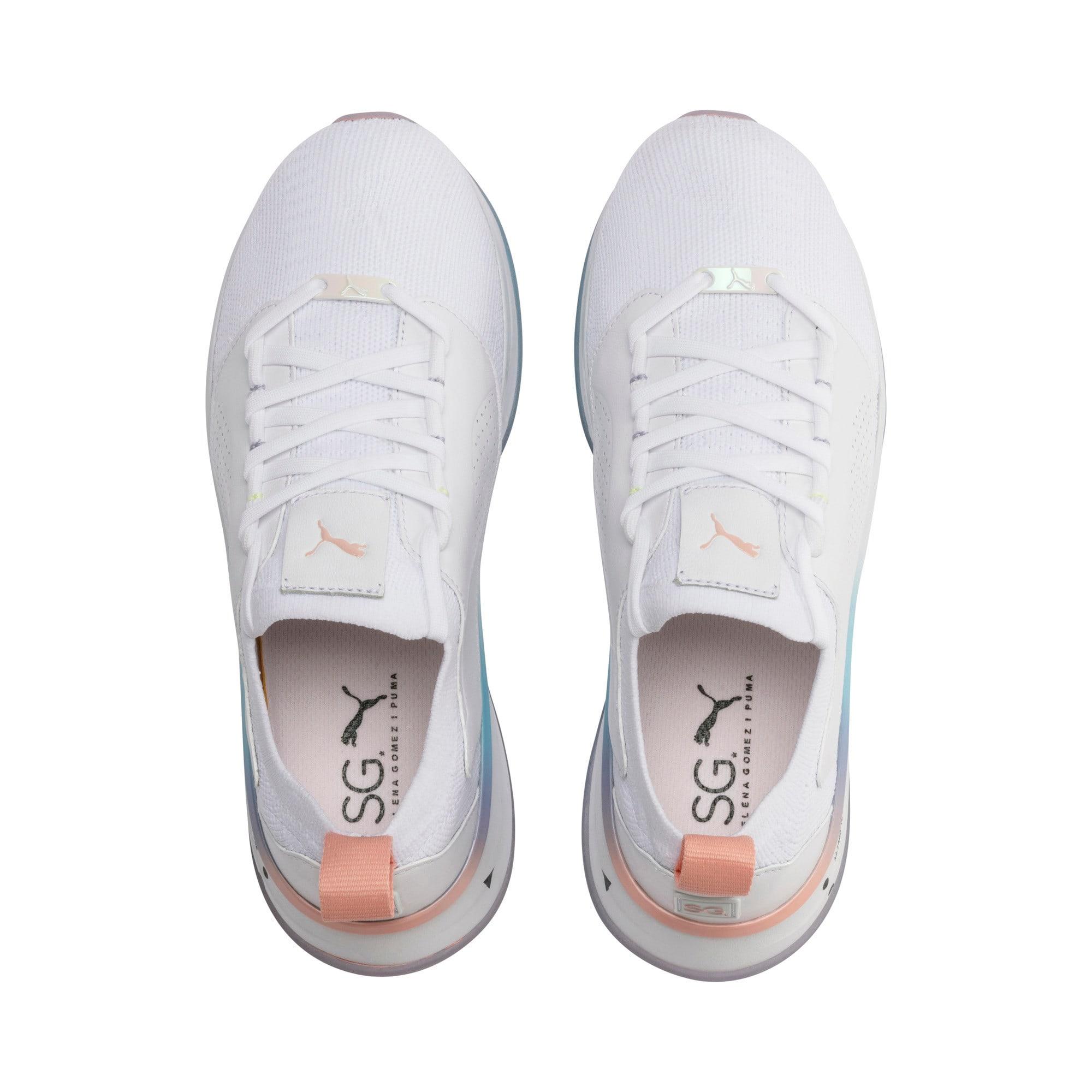 Miniatura 7 de Zapatos de entrenamiento SG Runner Ice para mujer, Puma White-Peach Bud, mediano