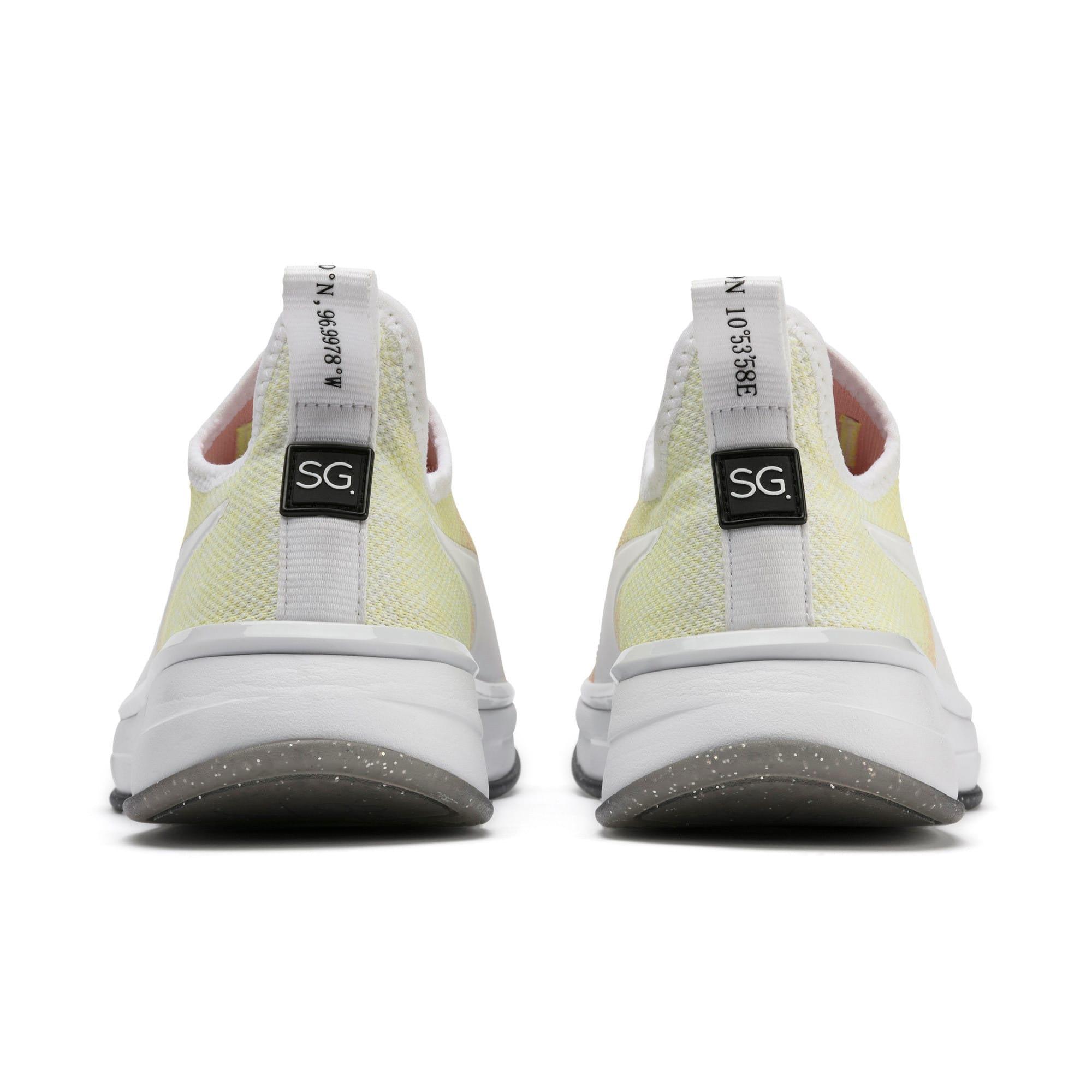 Miniatura 4 de Zapatos de entrenamiento SG Slip-On Sunrise para mujer, YELLOW-Peach Bud-White, mediano