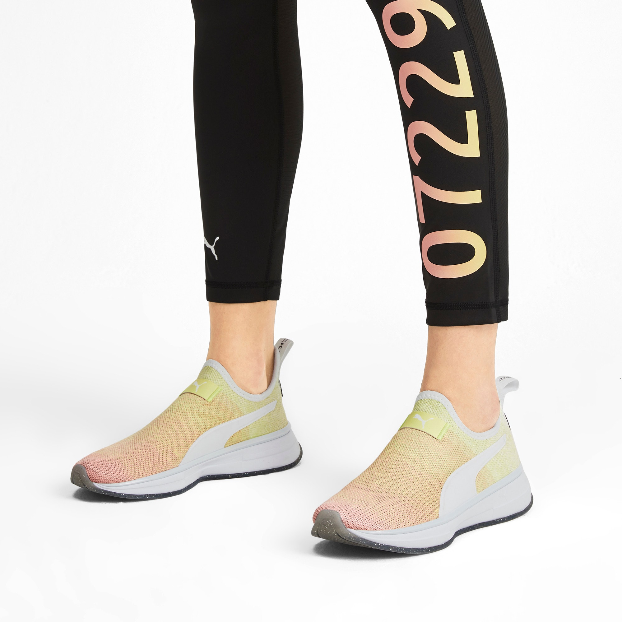 Thumbnail 2 of SG Slip-On Sunrise Women's Training Shoes, YELLOW-Peach Bud-White, medium