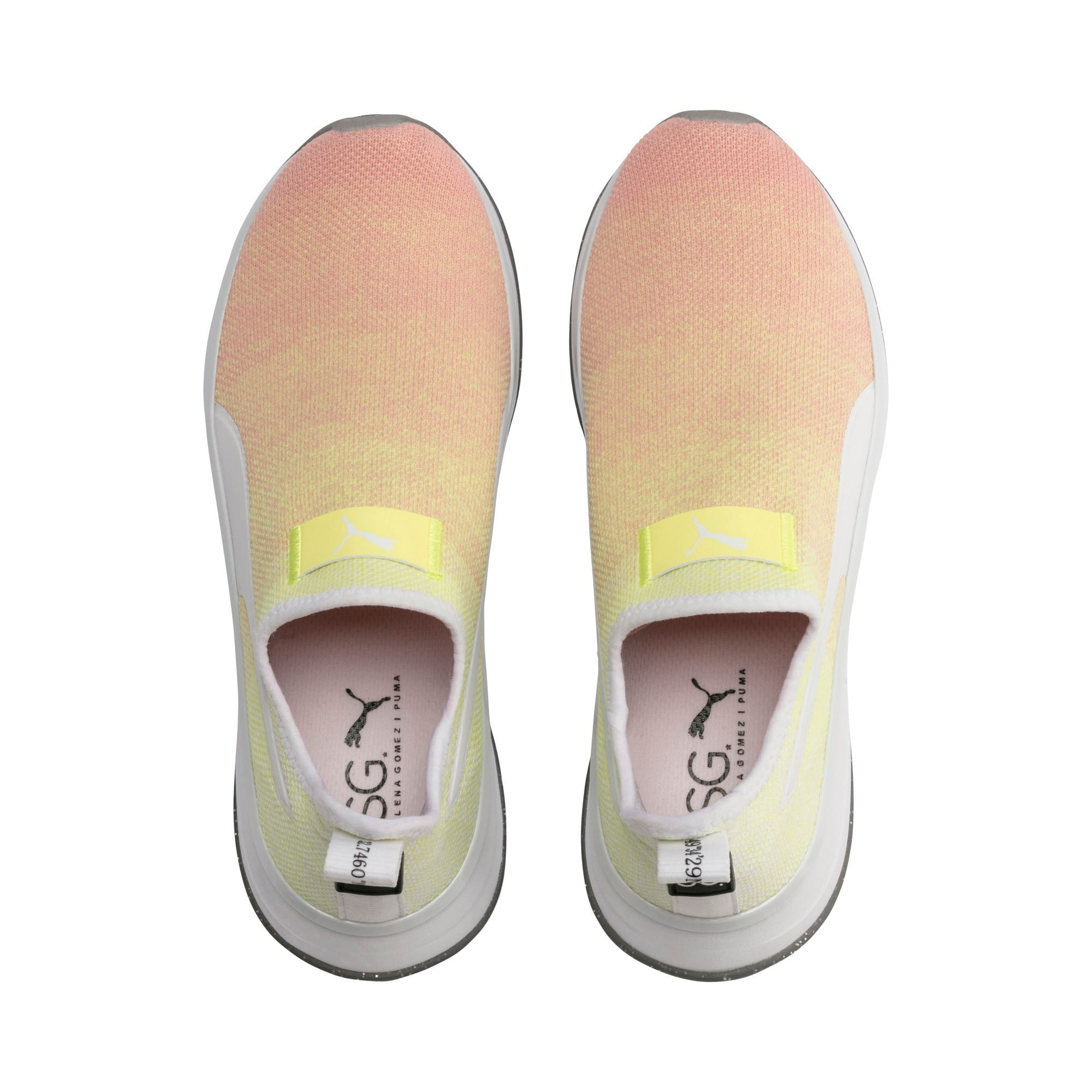 Thumbnail 7 of PUMA x SELENA GOMEZ Slip-On Gradient Women's Training Shoes, YELLOW-Peach Bud-White, medium