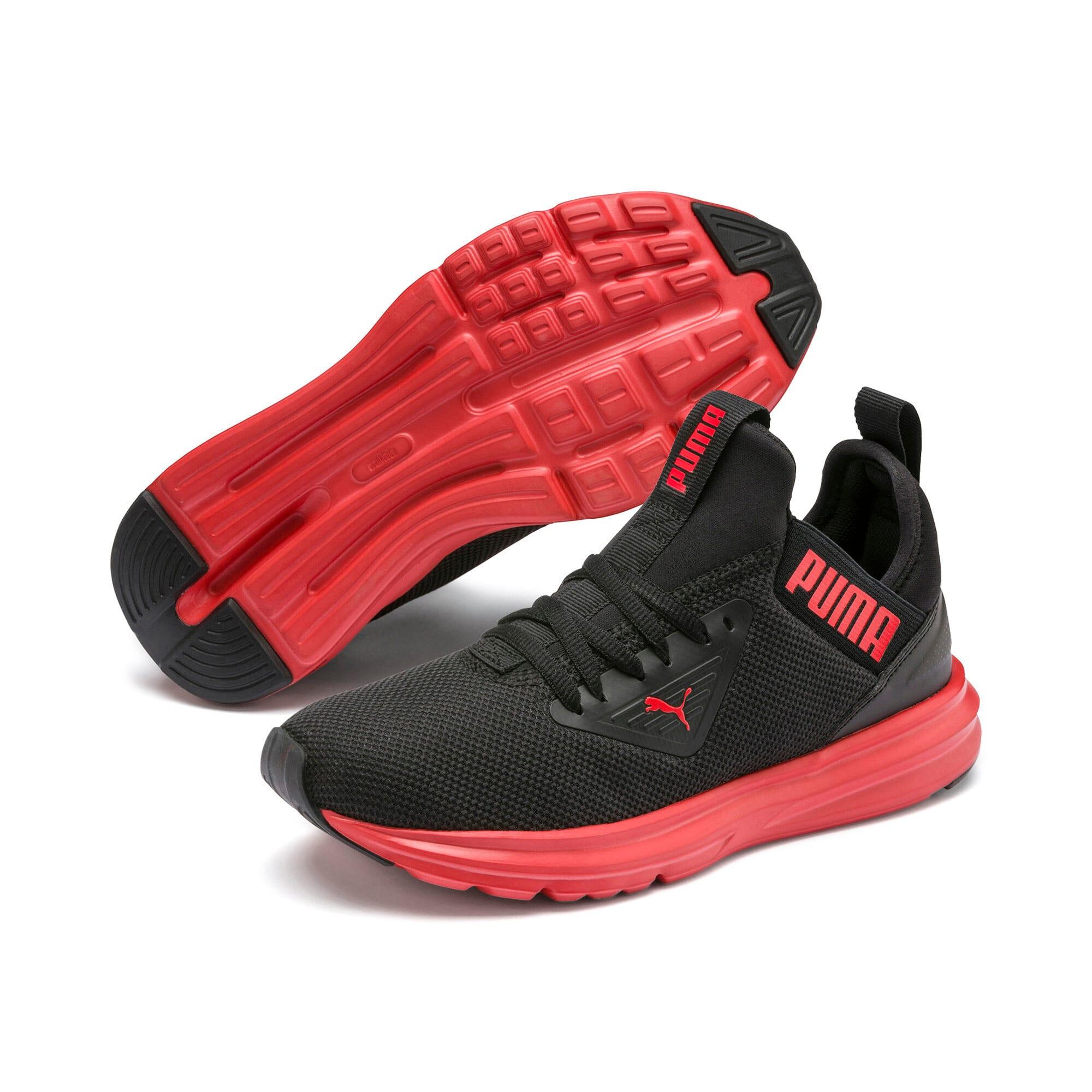Thumbnail 2 of Enzo Beta Sneakers JR, Puma Black-High Risk Red, medium