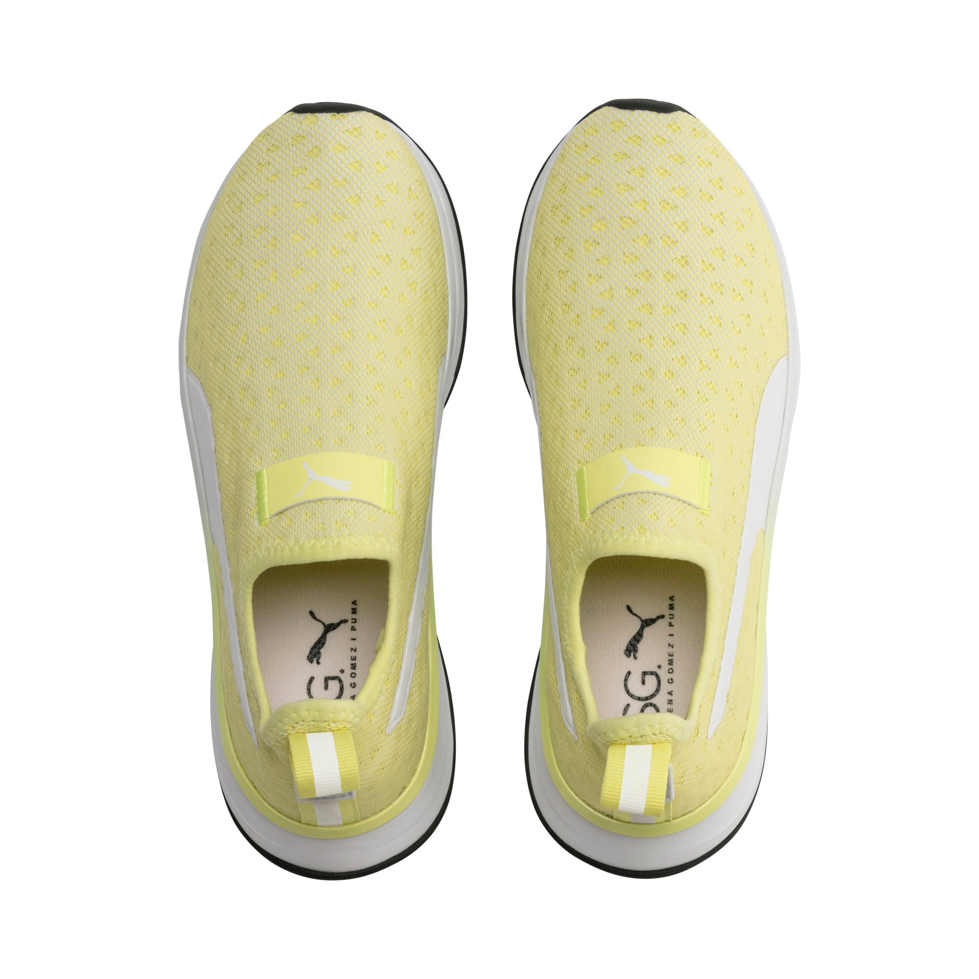 Thumbnail 7 of SG Slip-on Bright Women's Training Shoes, YELLOW-Puma White-Puma Black, medium
