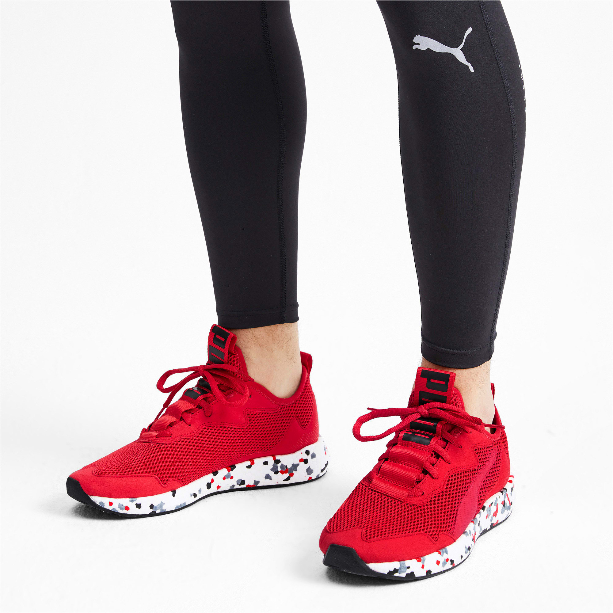 Thumbnail 3 of NRGY Neko Skim Men's Running Shoes, High Risk Red-Puma Black, medium-IND