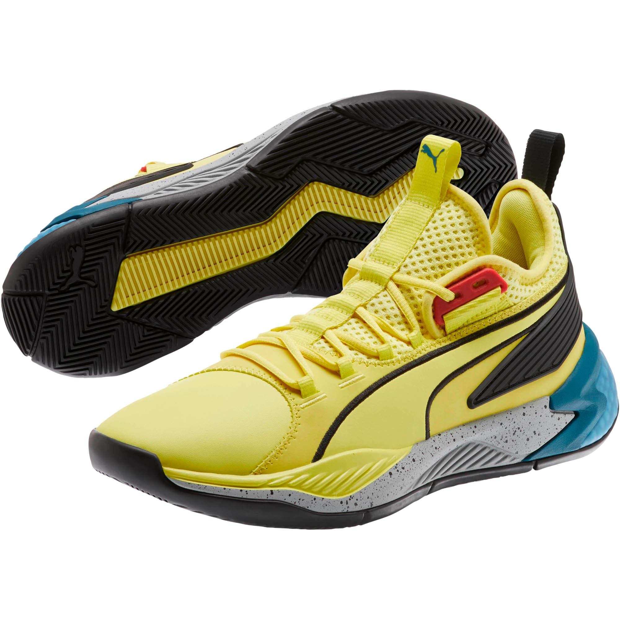 Thumbnail 2 van Uproar Spectra basketbalschoenen, Limelight-zwart-wit, medium