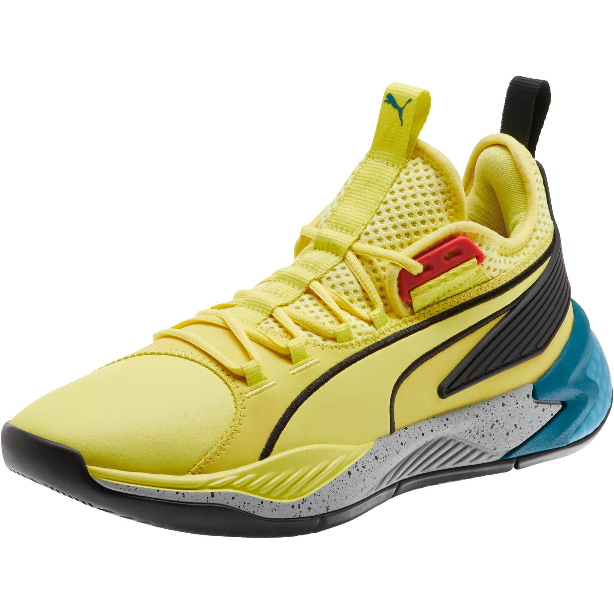 Thumbnail 1 van Uproar Spectra basketbalschoenen, Limelight-zwart-wit, medium