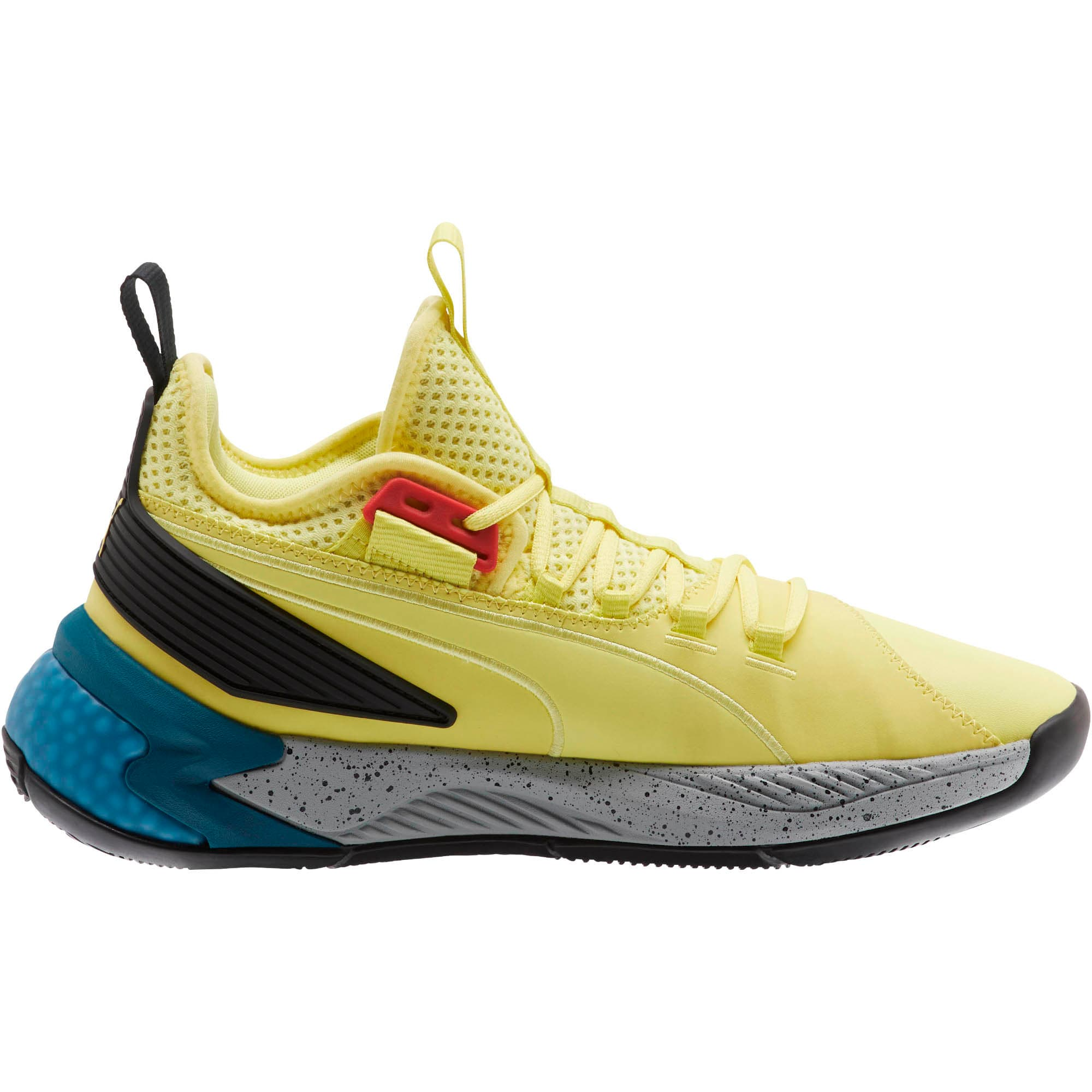 Thumbnail 4 van Uproar Spectra basketbalschoenen, Limelight-zwart-wit, medium