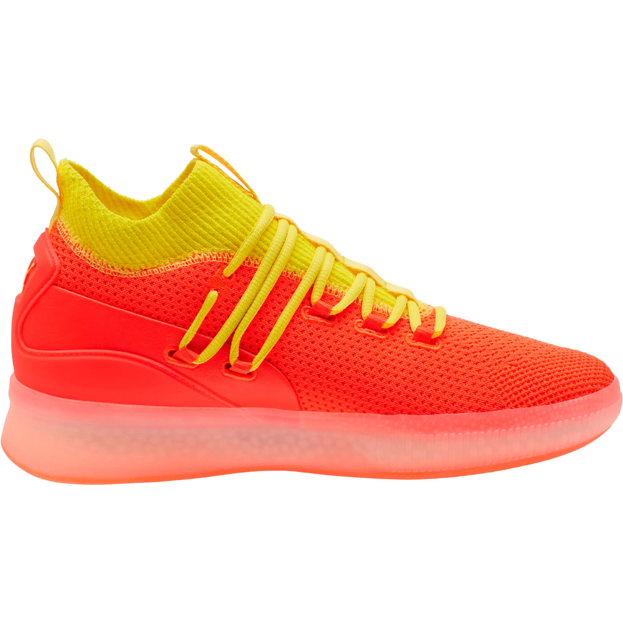 Thumbnail 4 of Clyde Court Basketball Shoes JR, Red Blast, medium