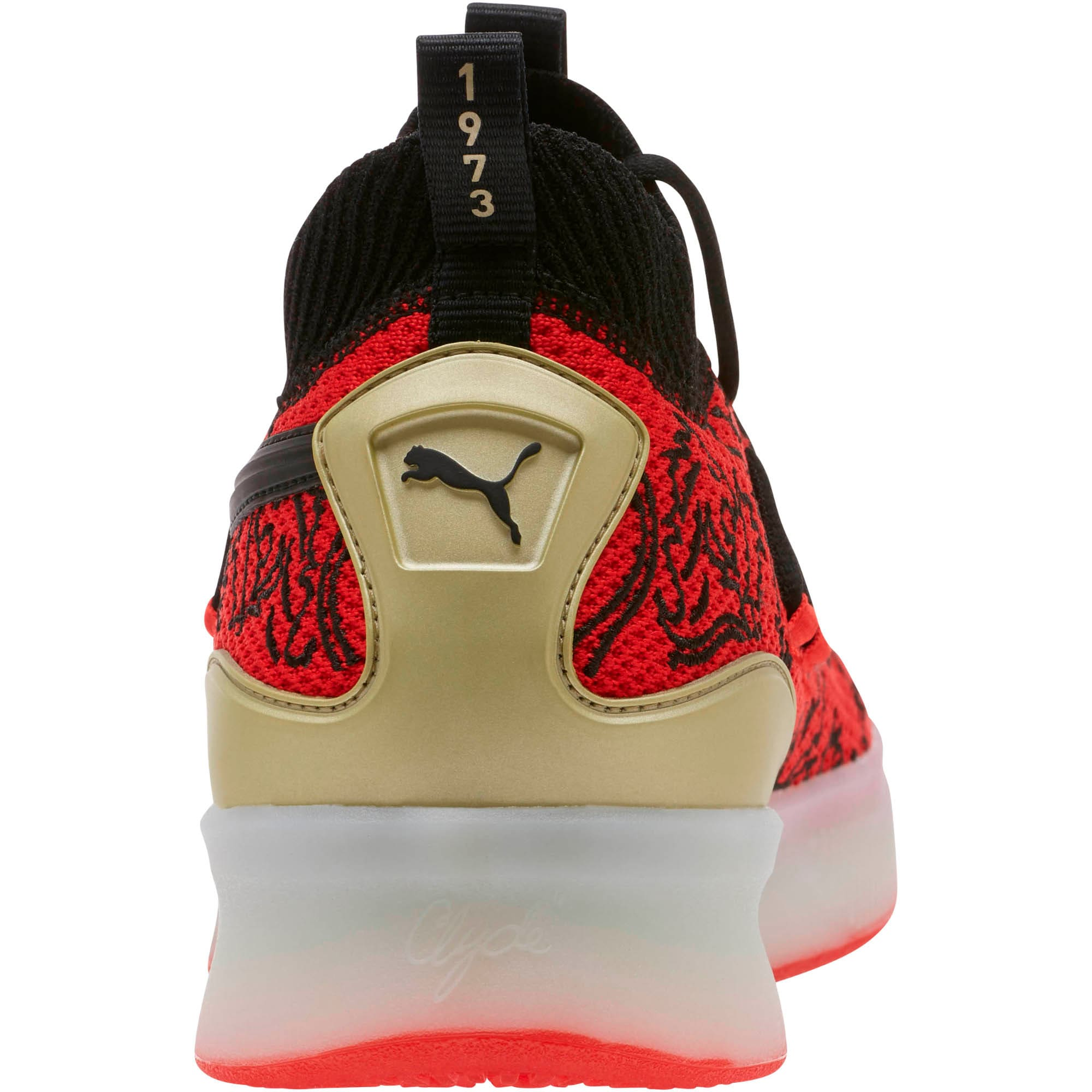 Thumbnail 3 of Clyde Court London Men's Basketball Shoes, High Risk Red-Puma Black, medium