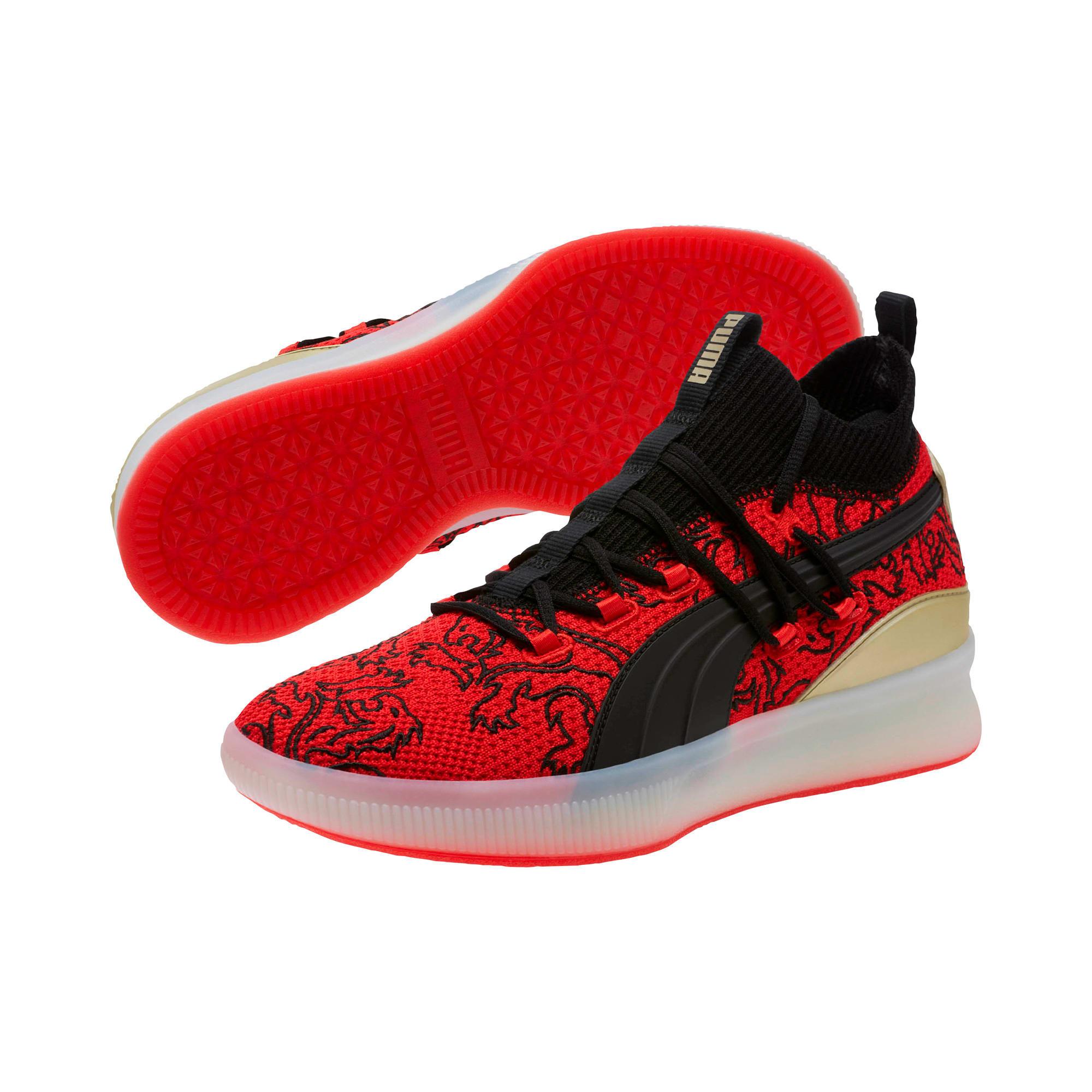 Imagen en miniatura 2 de Zapatillas de baloncesto de hombre Clyde Court London, High Risk Red-Puma Black, mediana